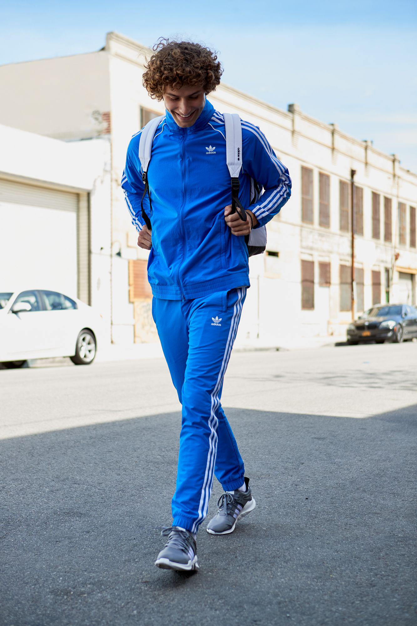 130c01b1261 adidas Originals Warm-up Track Pants in Blue for Men - Lyst