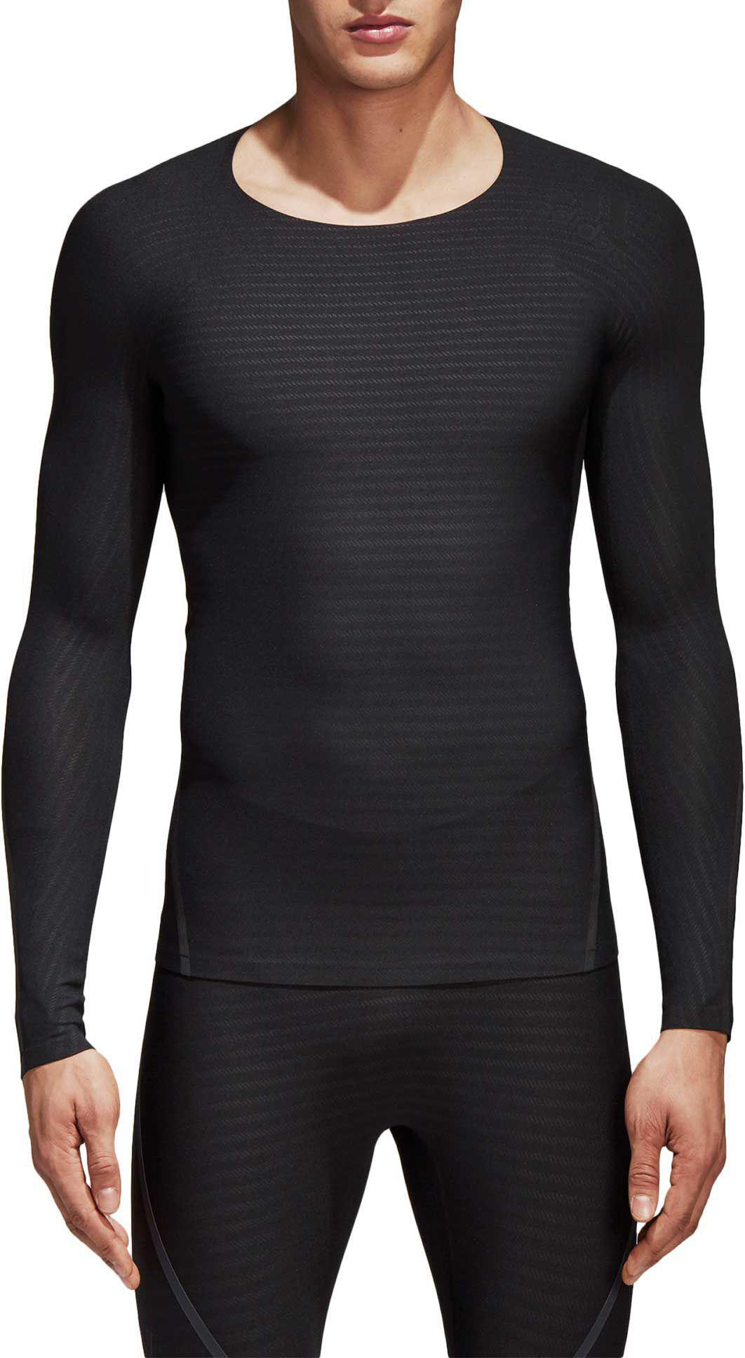5922bf19bf7d1 Lyst - adidas Alphaskin 360 Long Sleeve Shirt in Black for Men ...
