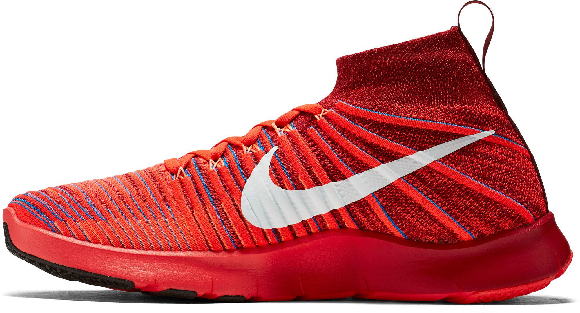 eb63bf6d9705 Lyst - Nike Free Train Force Flyknit Training Shoes in Red for Men