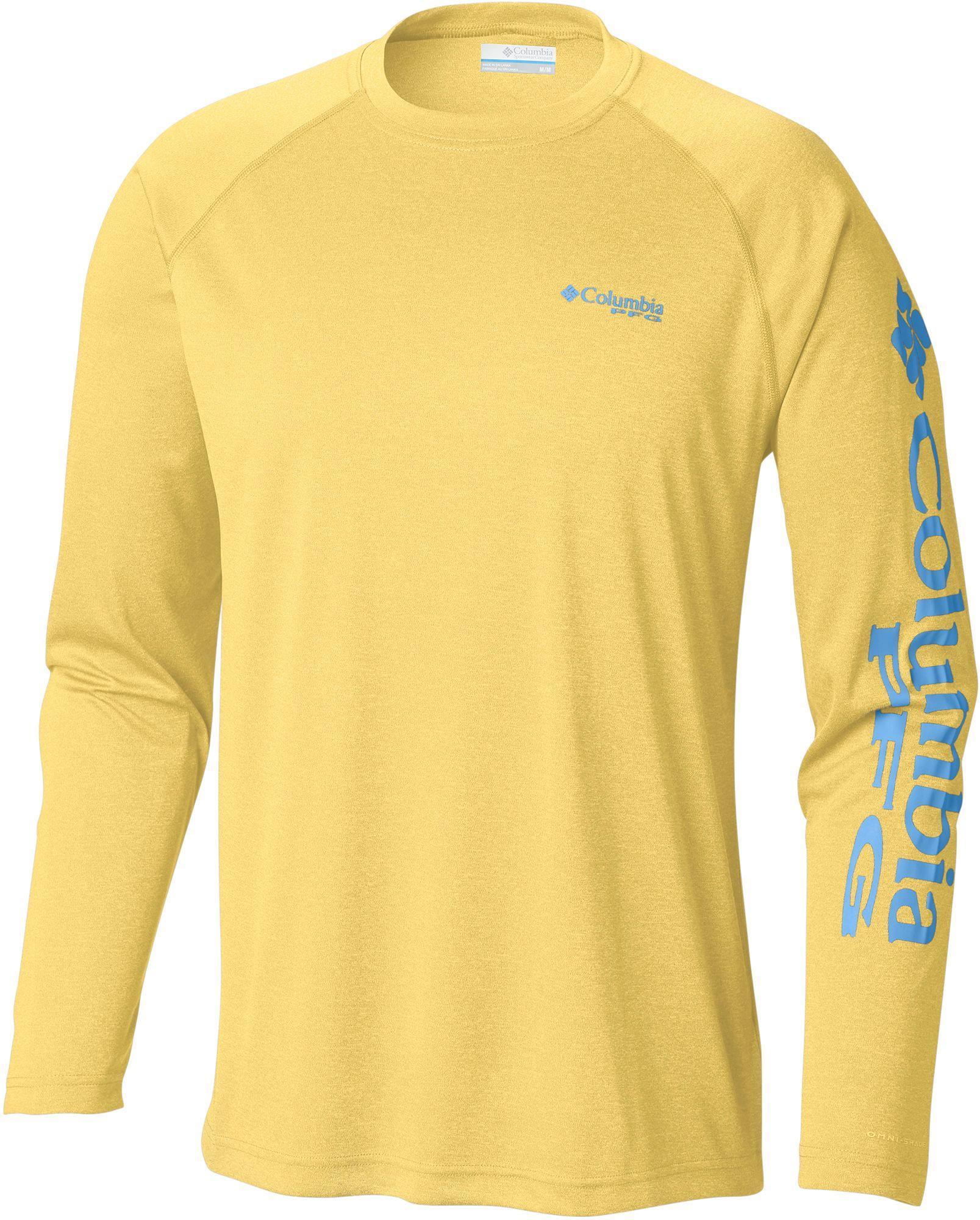 42e907fe39d Columbia - Yellow Pfg Terminal Tackle Heather Long Sleeve Shirt for Men -  Lyst. View fullscreen