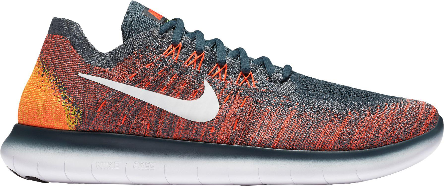 d83b52292128 ... shop nike gray free rn flyknit 2017 running shoes for men lyst 85036  d8d4a