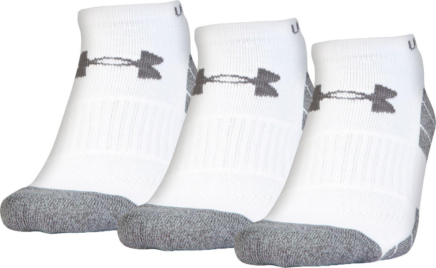 7a1a95171a9 Under Armour - White Elevated Performance No Show Socks 3 Pack for Men -  Lyst