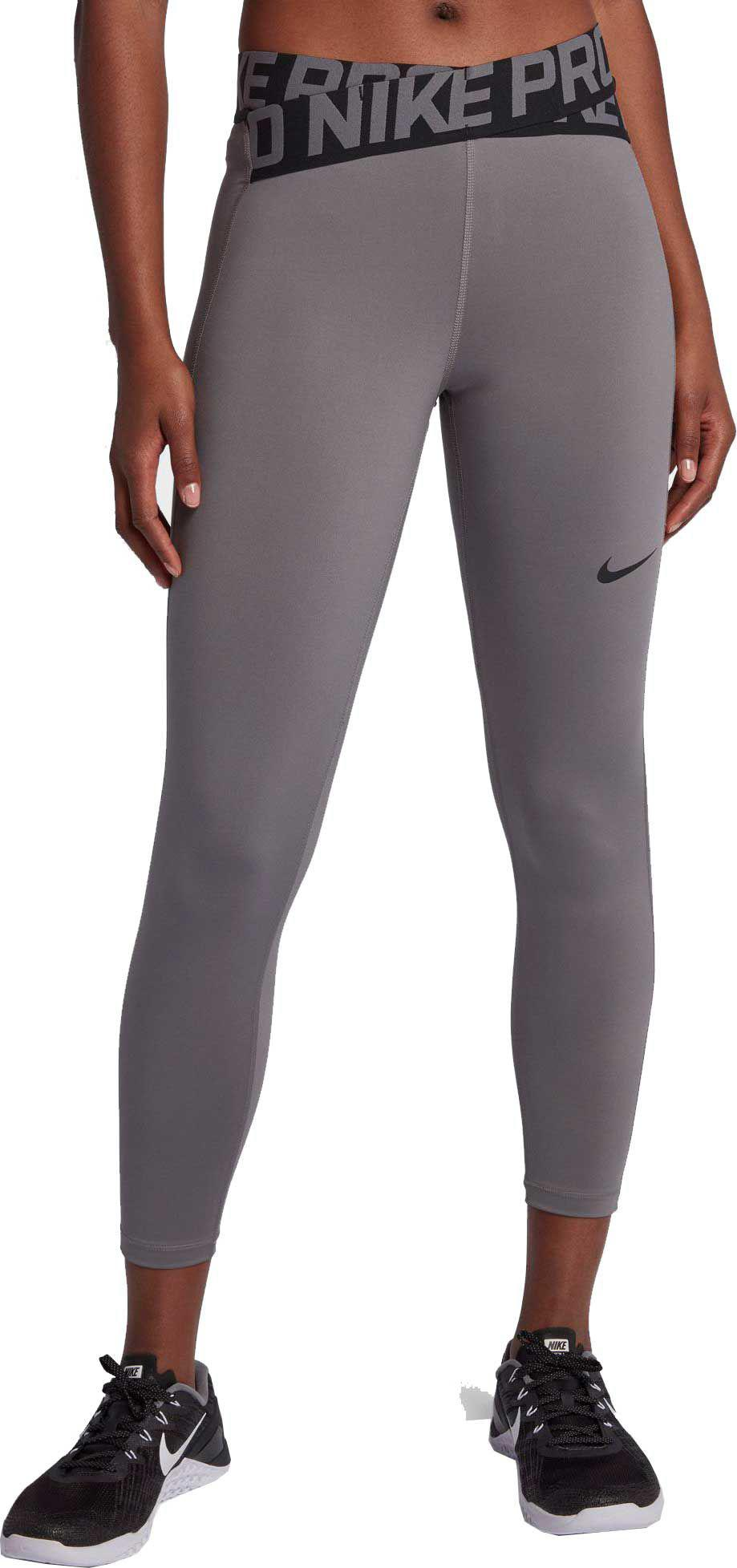 440abbbdf46c85 Nike Pro Intertwist 7/8 Training Tights in Gray - Lyst
