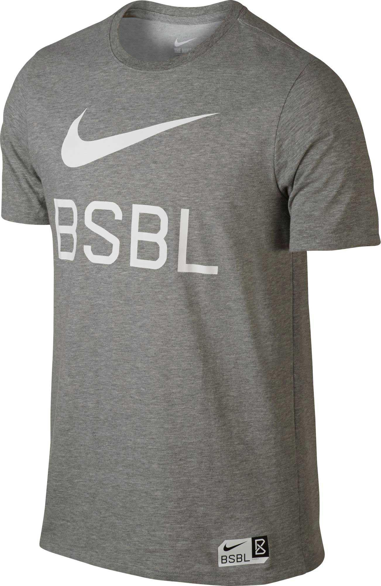 5e3bae7af344 Lyst - Nike Dry Swoosh 1.6 Graphic Baseball T-shirt in Gray for Men