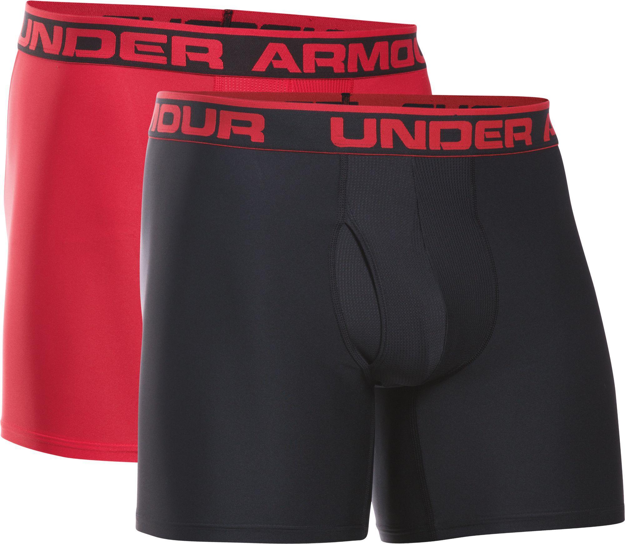 dbf579b4b004 Under Armour - Black O Series 6'' Boxerjock Boxer Briefs 2 Pack for Men