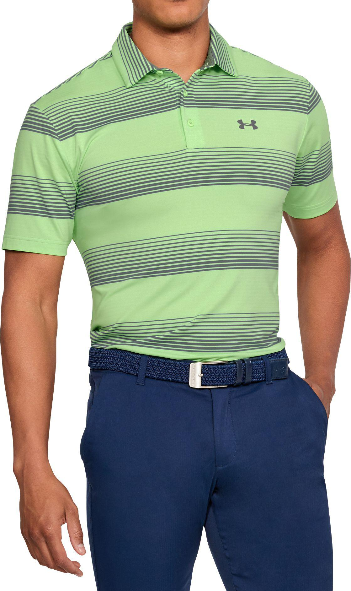 bd4f915e5e Lyst - Under Armour Playoff Blast Stripe Golf Polo in Green for Men