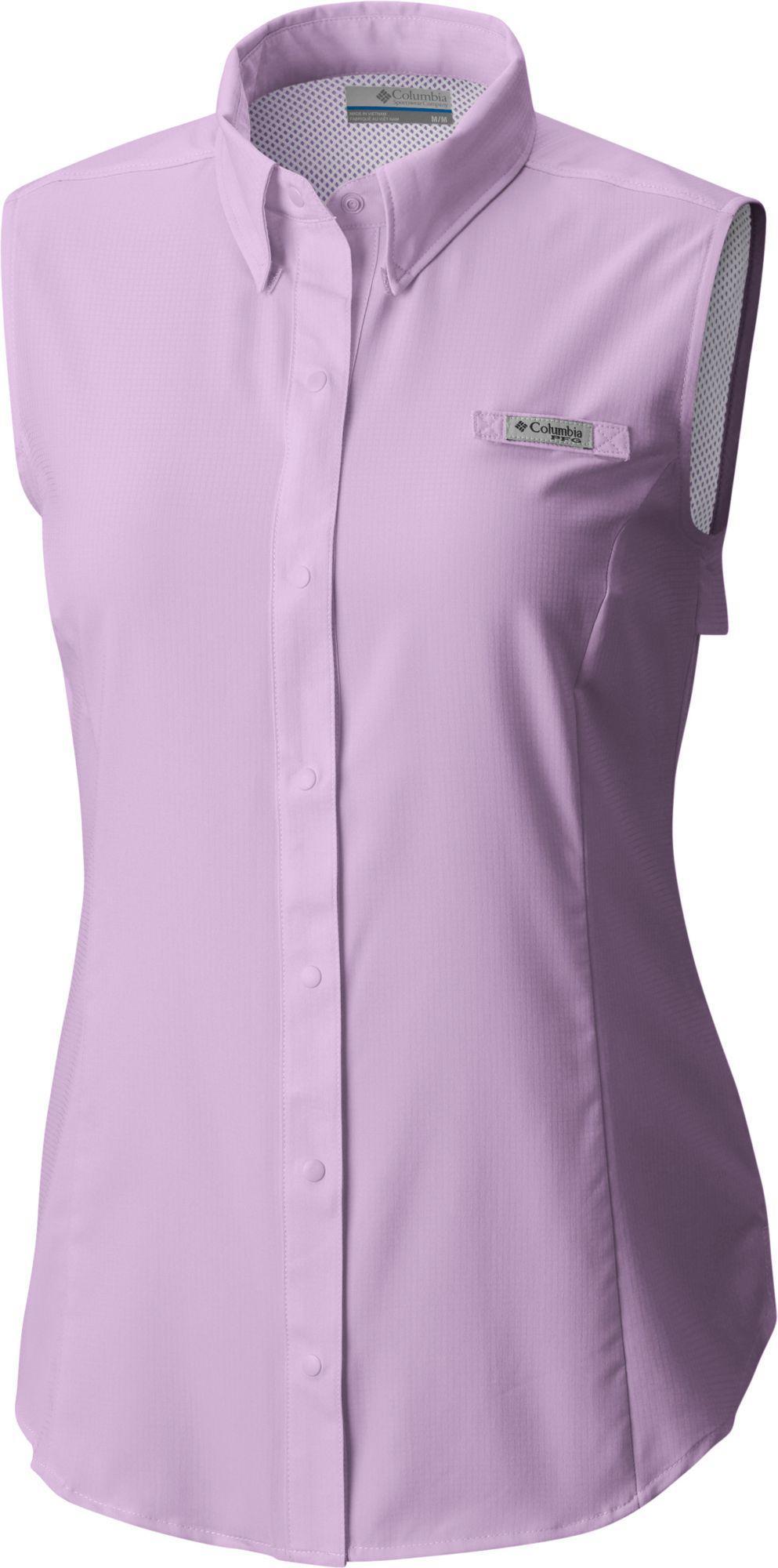 a33173535b19e6 Lyst - Columbia Pfg Tamiami Sleeveless Shirt in Purple