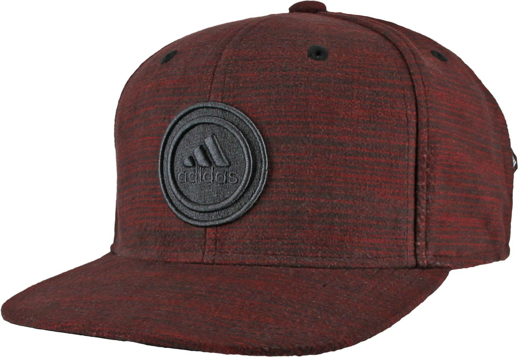 new concept 05481 6d265 adidas. Men s Red Courtside Snapback Cap