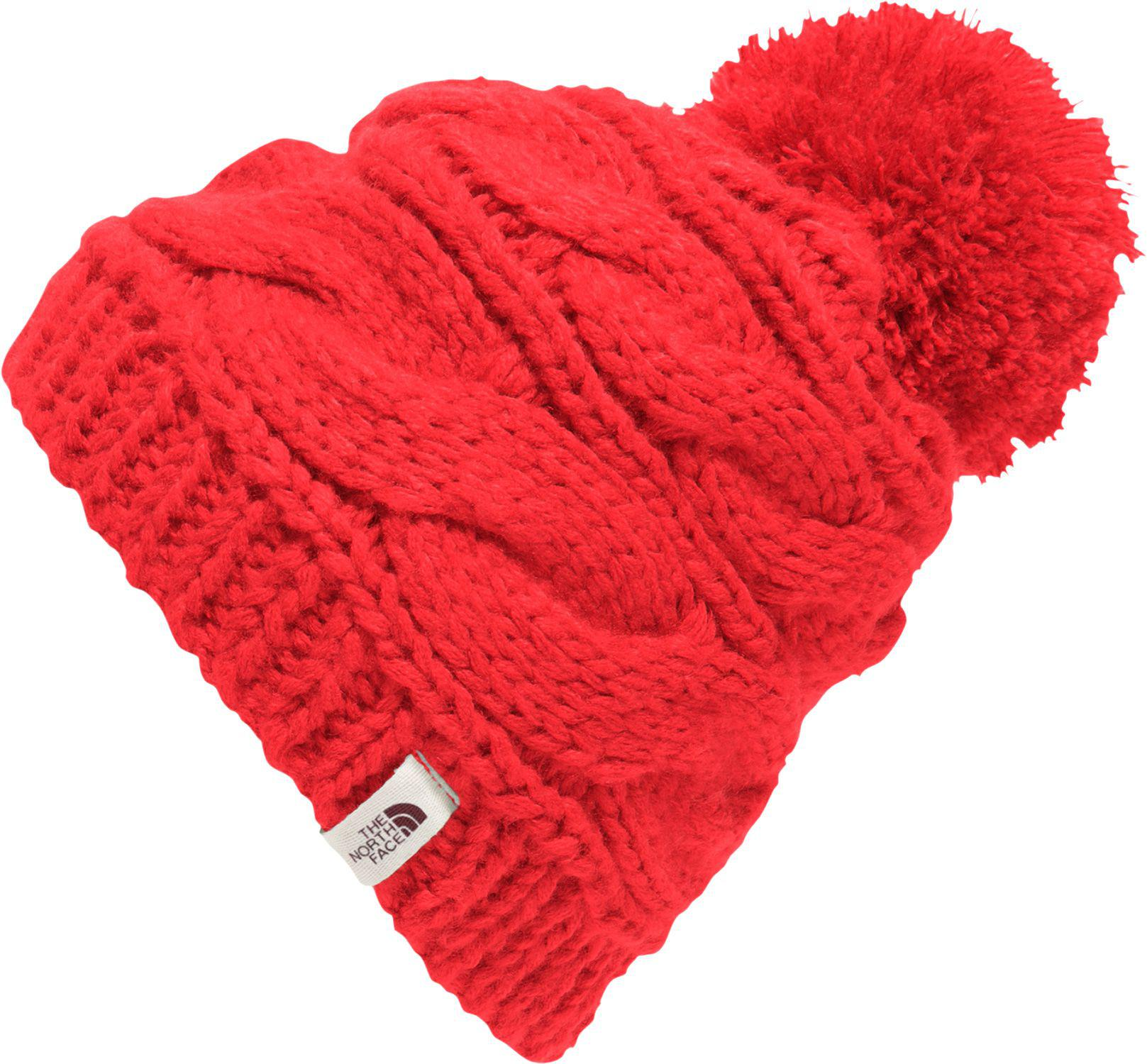 c12e859b50ed2 Lyst - The North Face Triple Cable Pom Beanie in Red