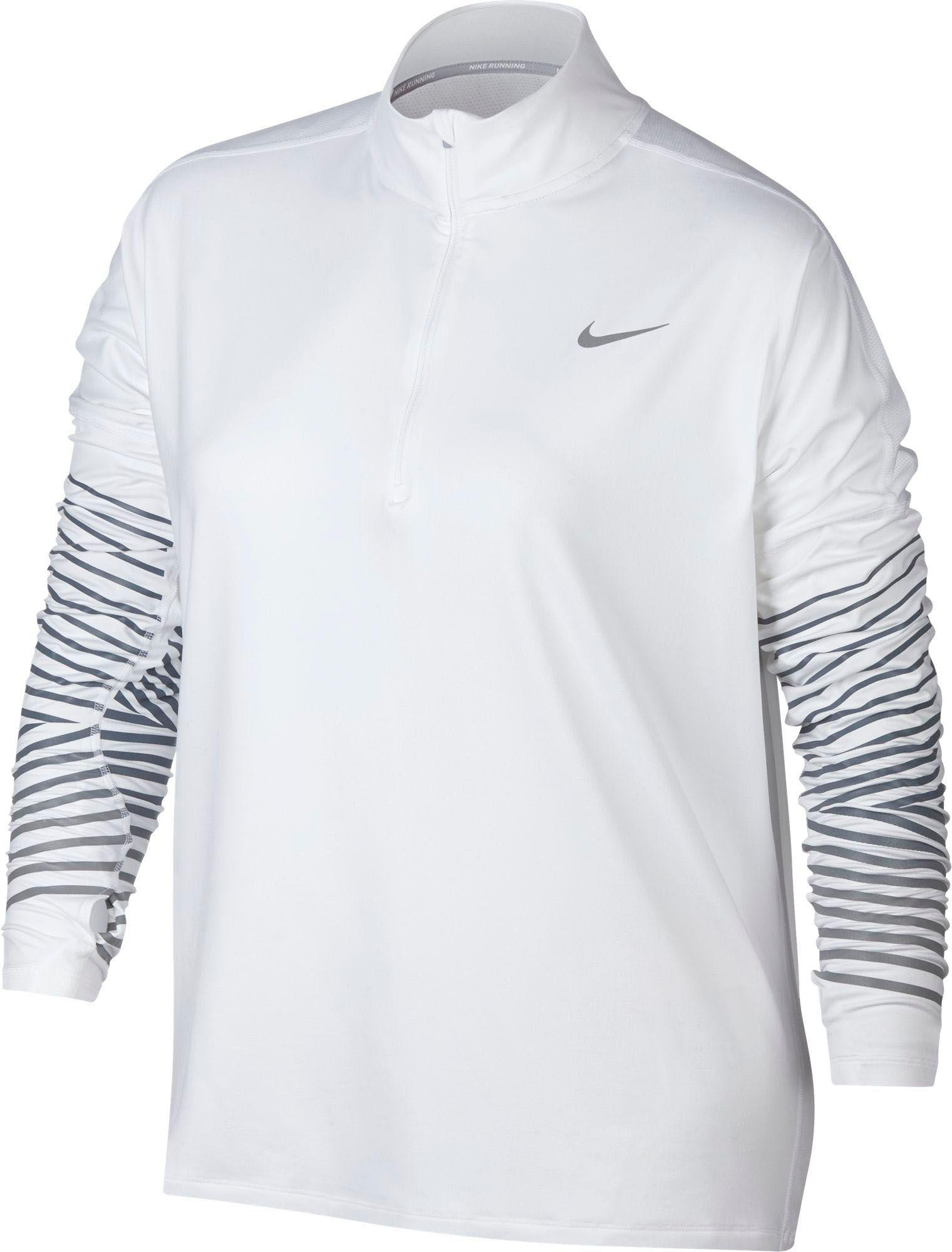 1898288798f Lyst - Nike Plus Size Dry Element Flash Running Shirt in White