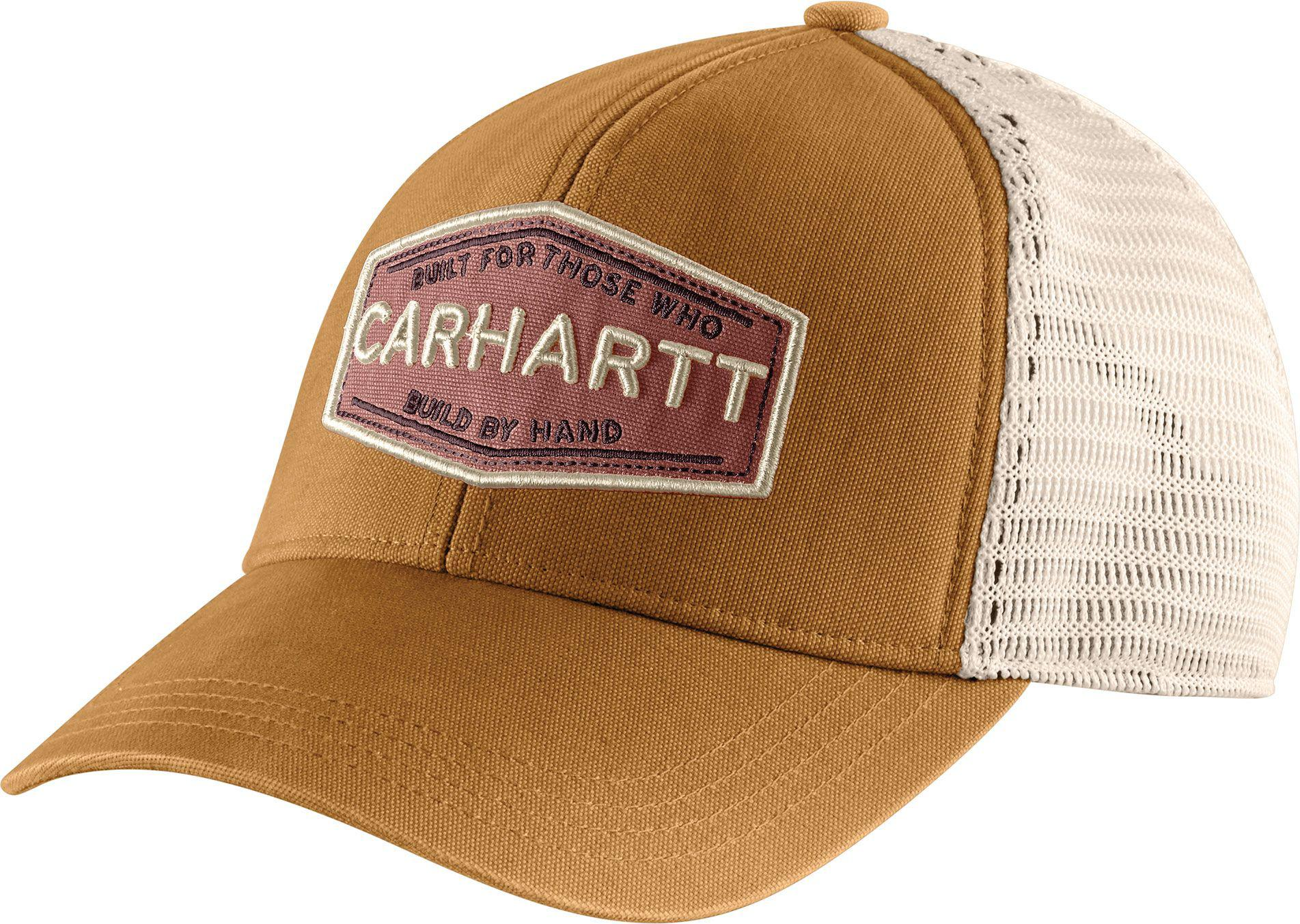 0e810a9420b Lyst - Carhartt Ellaire Built By Hand Trucker Hat in Brown