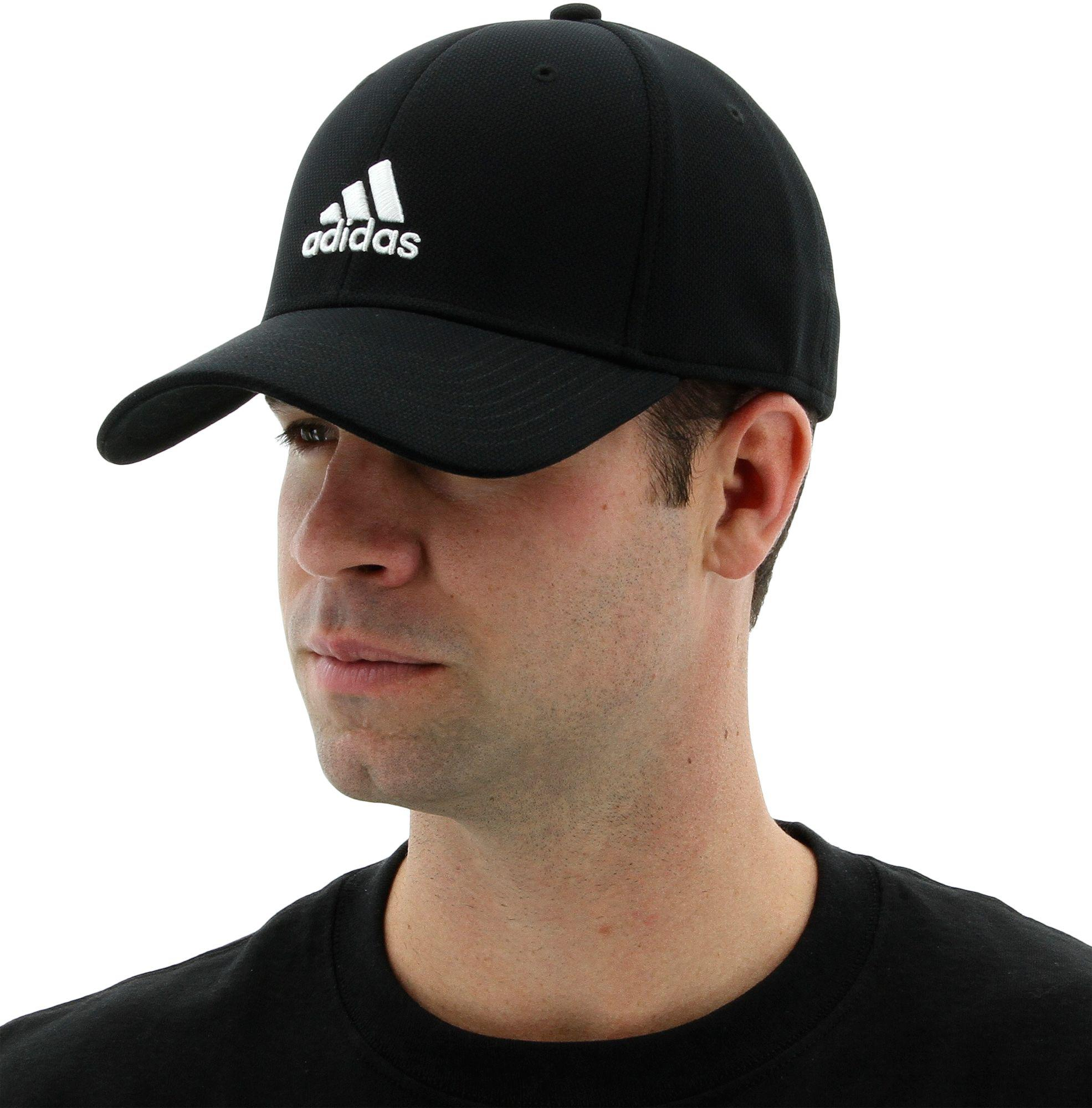 Lyst - adidas Rucker Stretch Fit Cap in Black for Men 10206e35257b