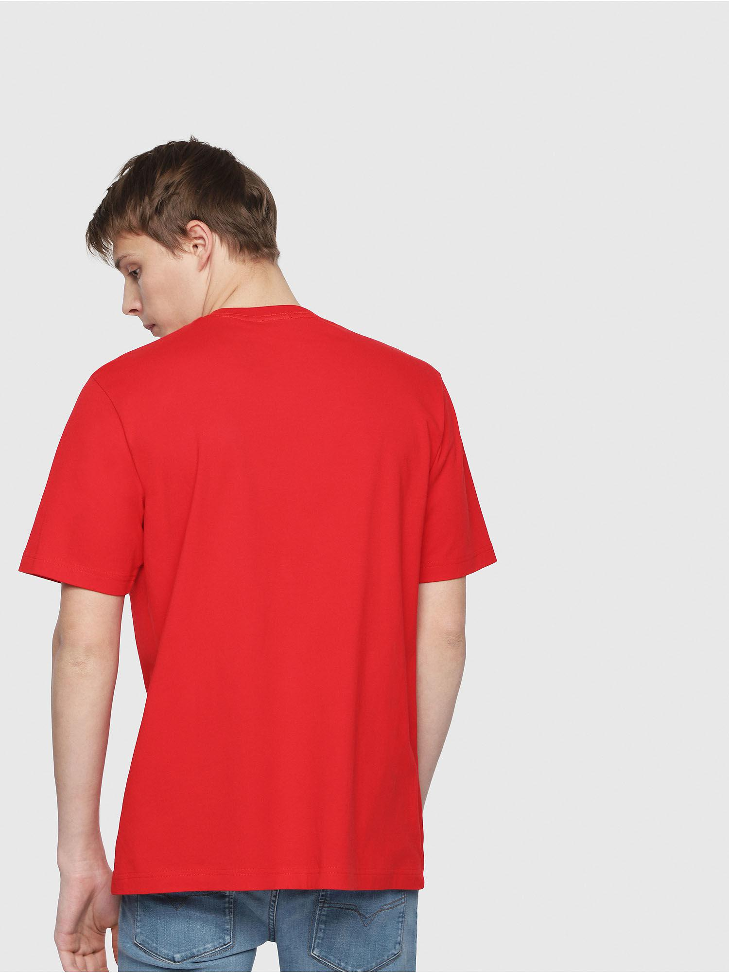 1aefd894 Lyst - Diesel T-shirt In Cotton With Lettering And Logo in Red for Men