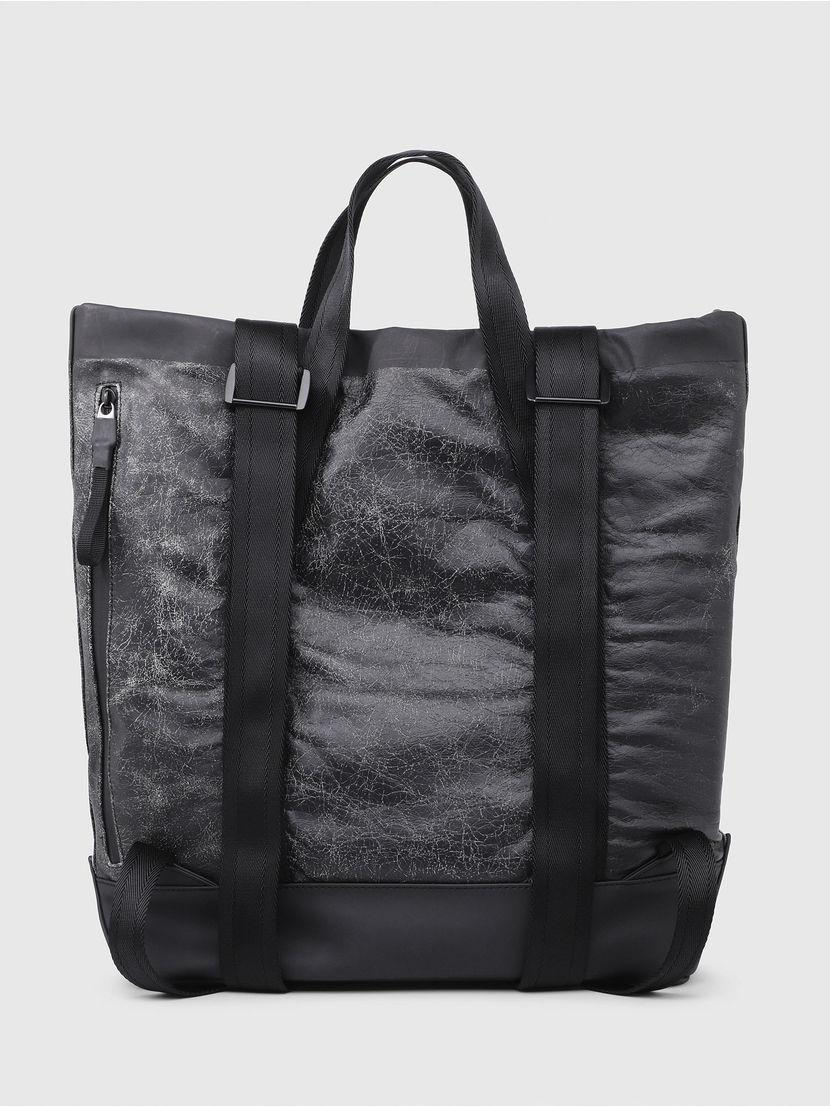 c8908f1ee3 DIESEL - Black Transformable Tote backpack In Leather for Men - Lyst. View  fullscreen