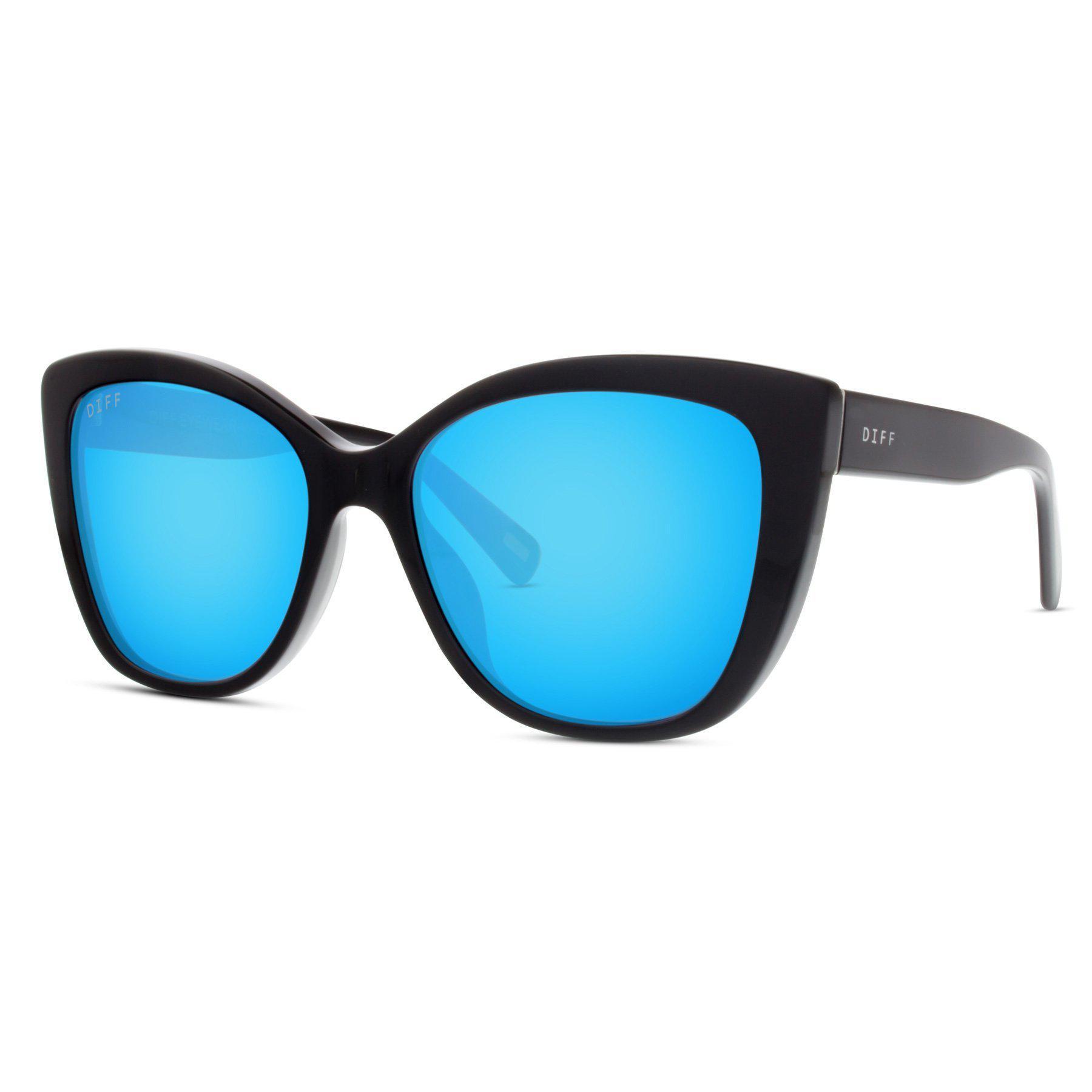 95fba72028 Lyst - DIFF Ruby - Black + Blue Mirror + Polarized in Blue