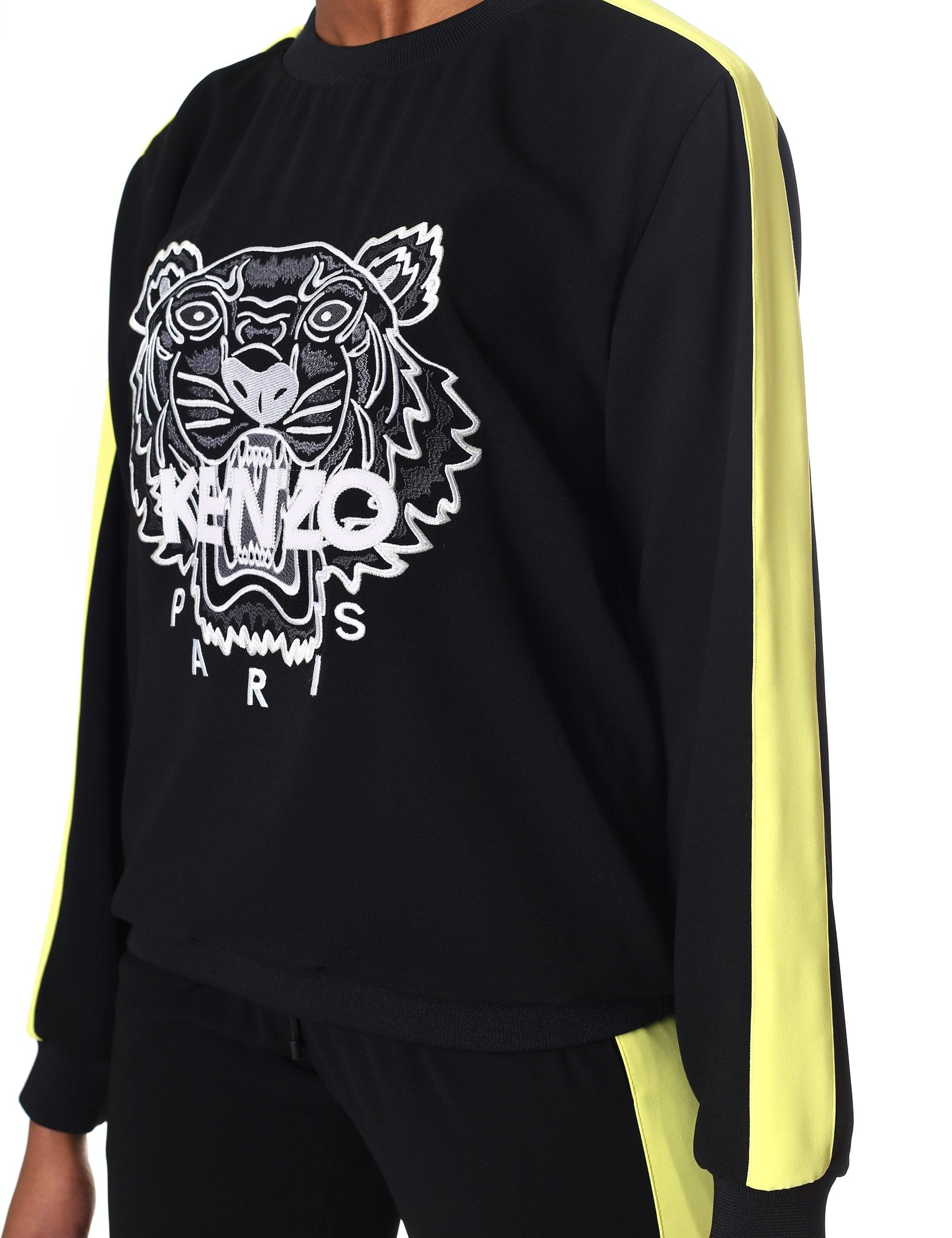 76e6954493 KENZO Crepe Tiger Top in Black - Lyst