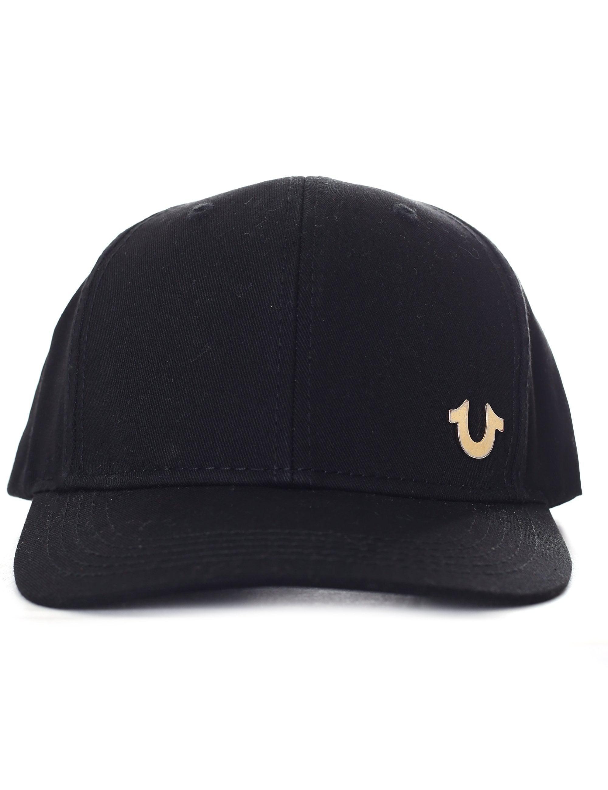 7c75a25d7f7 True Religion Metal Logo Black Baseball Cap in Black for Men - Lyst