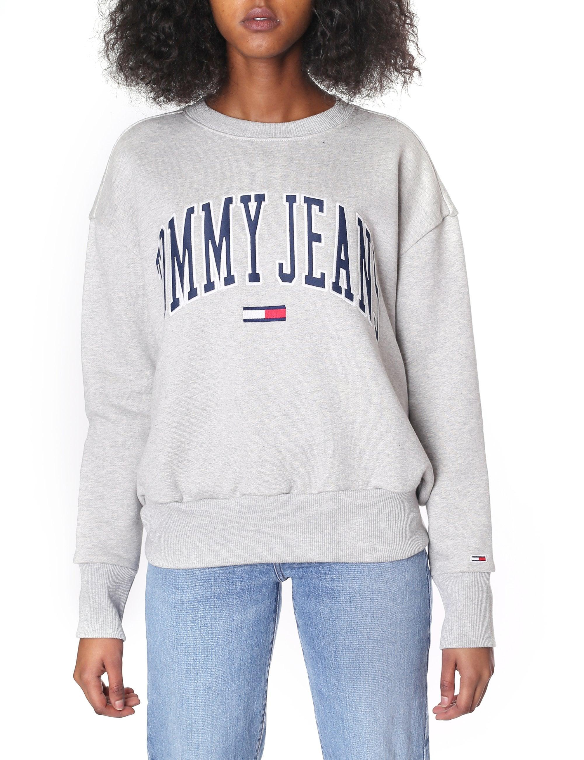 d0550ee8171 Tommy Hilfiger - Gray Tjw Tommy Clean Collegiate Sweat Top Lt Grey Heather  - Lyst. View fullscreen