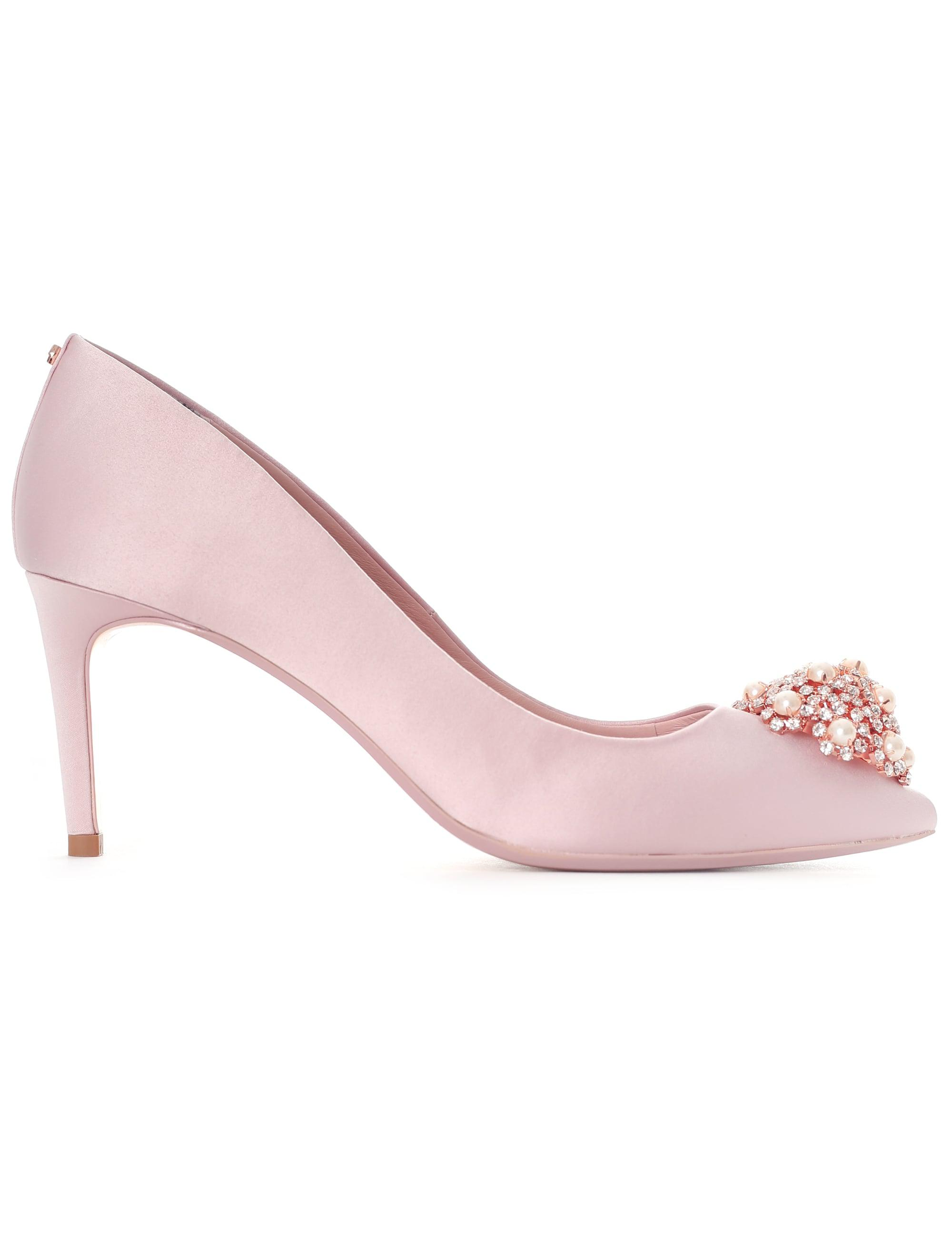 9f26b407cd9 Ted Baker Dahrlin Jewel Broach Mid Heel Court in Pink - Lyst