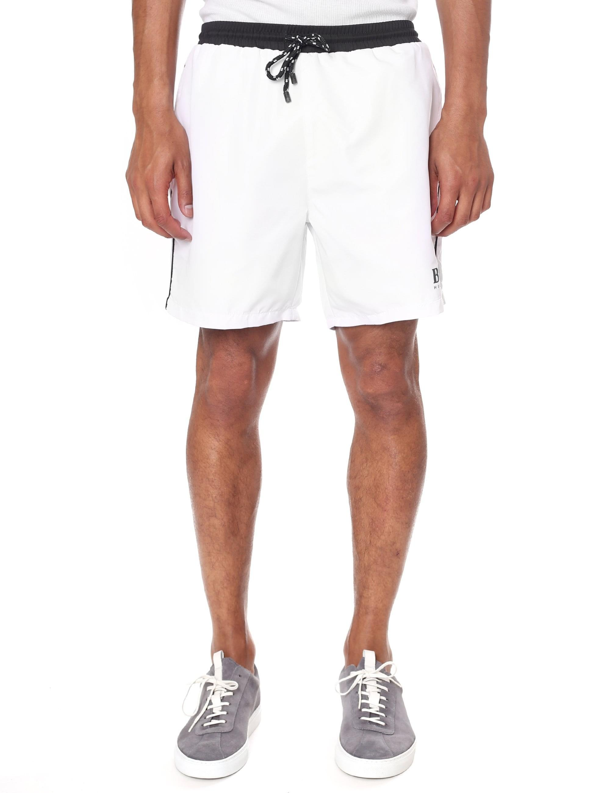 7bbc787697 BOSS Starfish Technical Fabric Swim Shorts in White for Men - Lyst