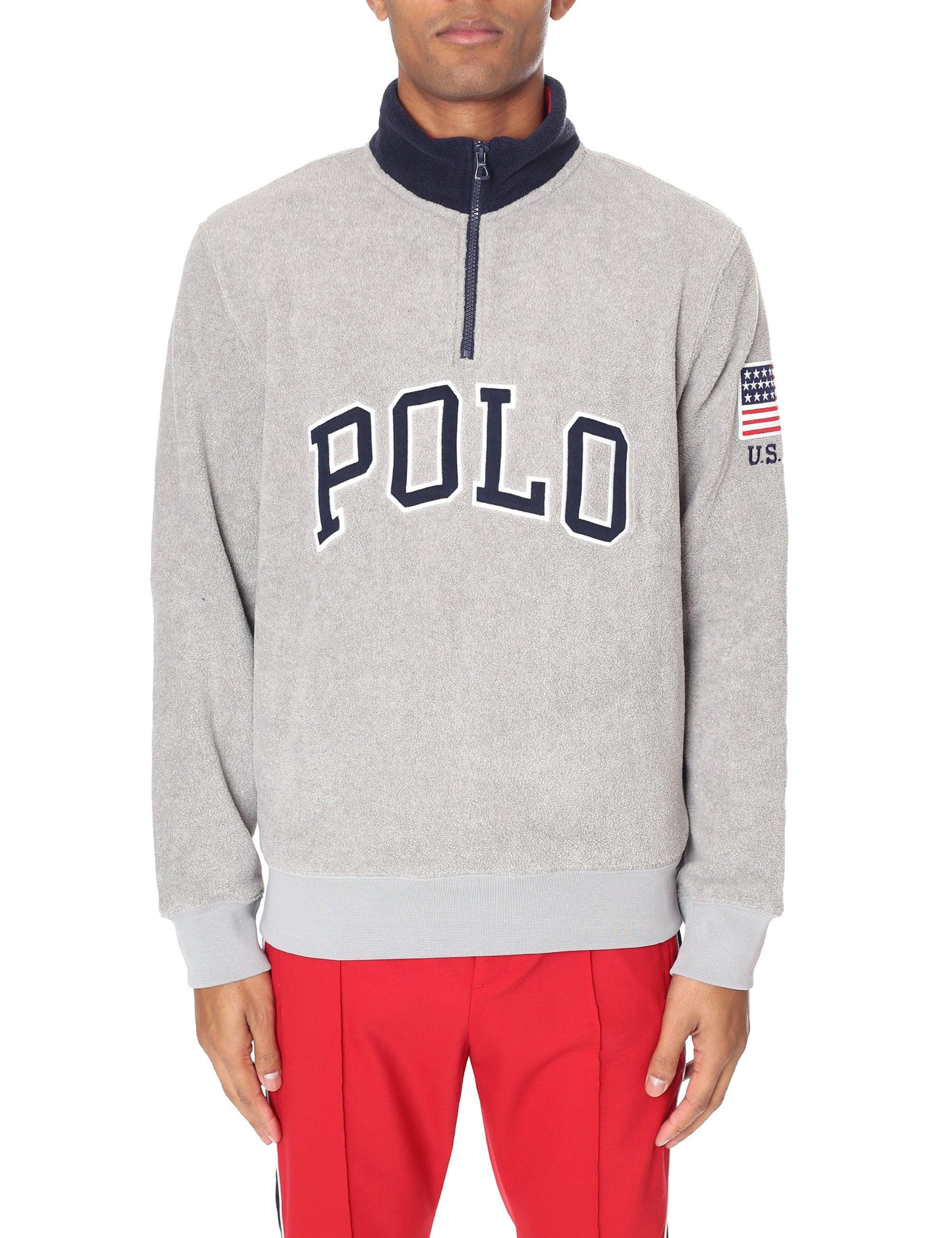 Polo Ralph Lauren Half Zip Pullover Logo Fleece in Gray for Men - Lyst 480913ff2d7