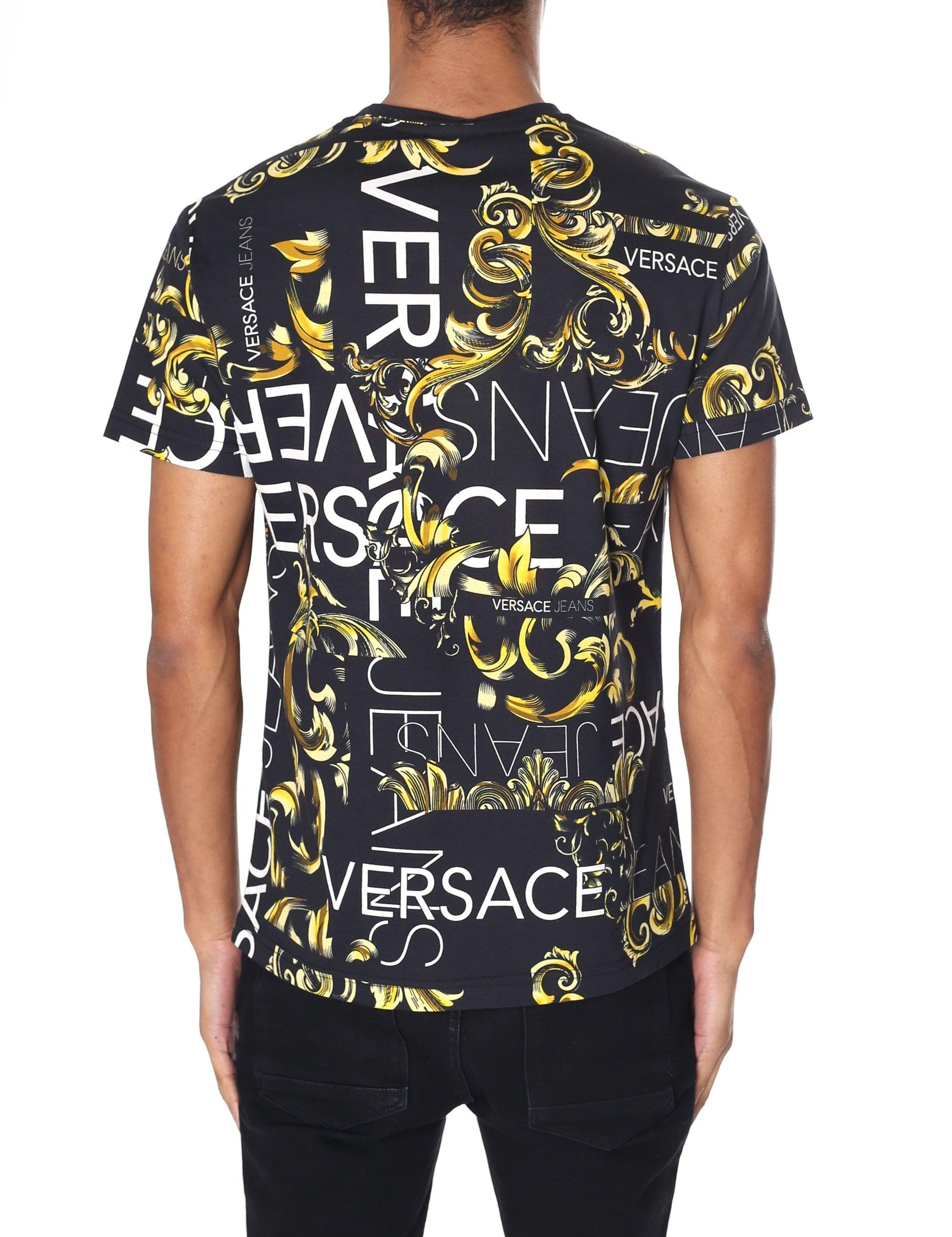366fb01e Versace Jeans Baroque Print Tee in Black for Men - Lyst