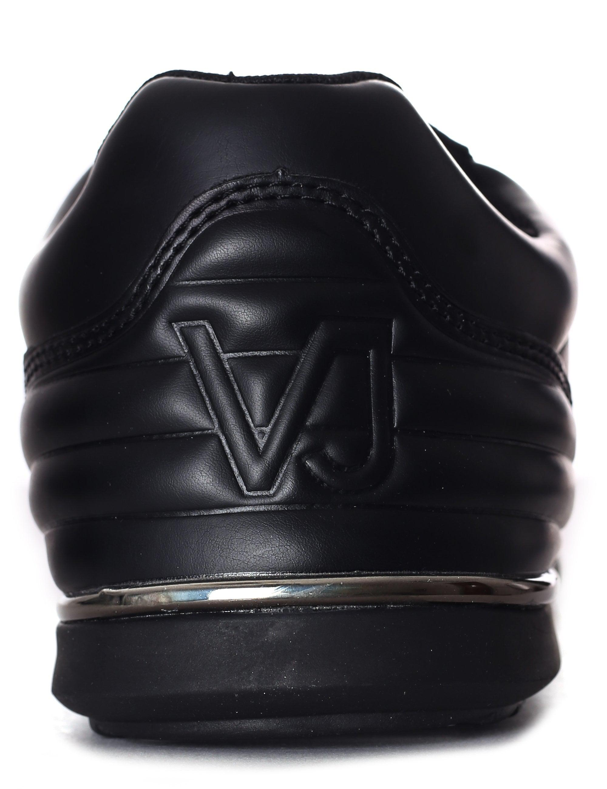 2be13d96ae9 Versace Jeans Coated Suede Trainer in Black for Men - Lyst