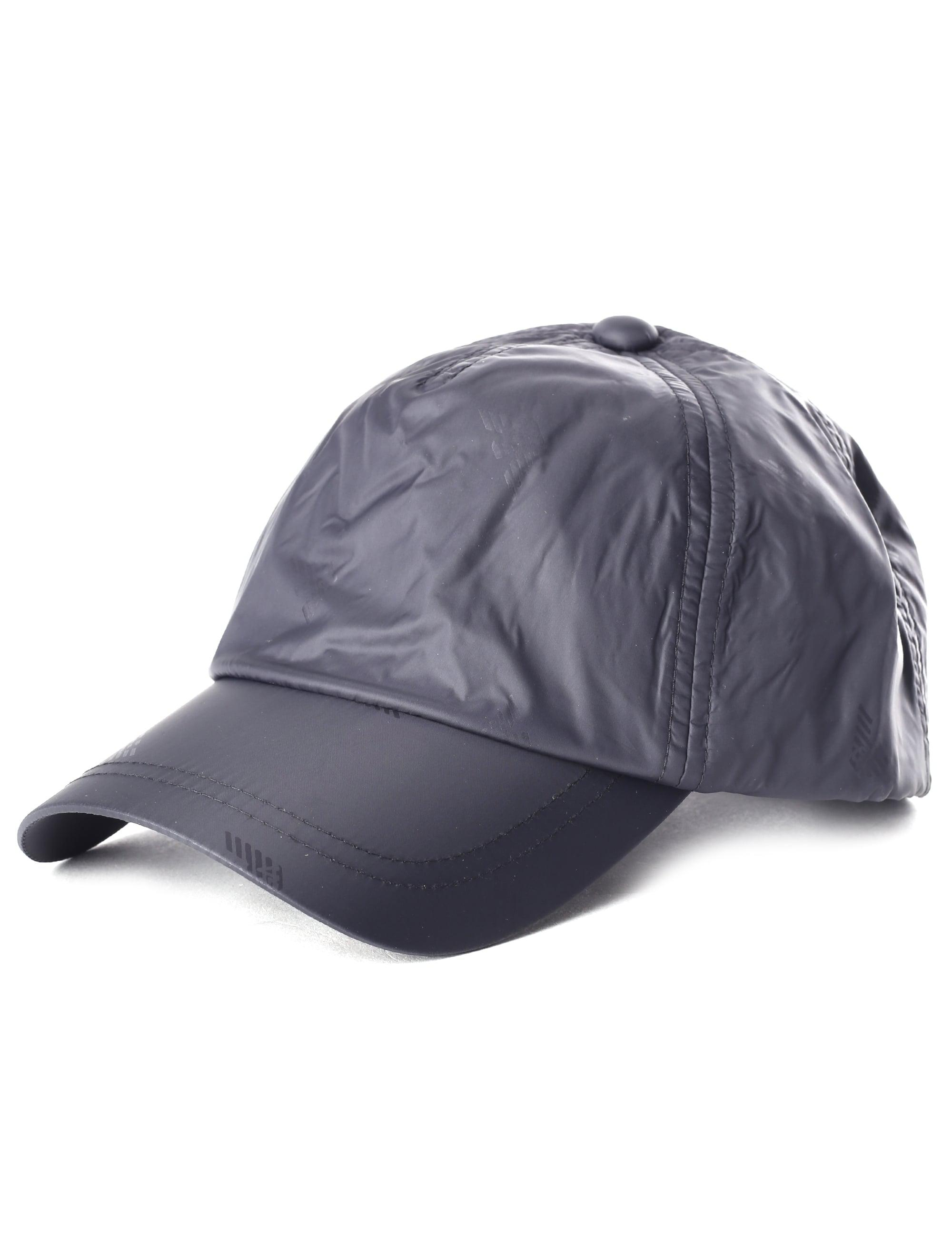 9a31c671a28 Emporio Armani Men s Repeat Logo Baseball Cap Black in Black for Men - Lyst