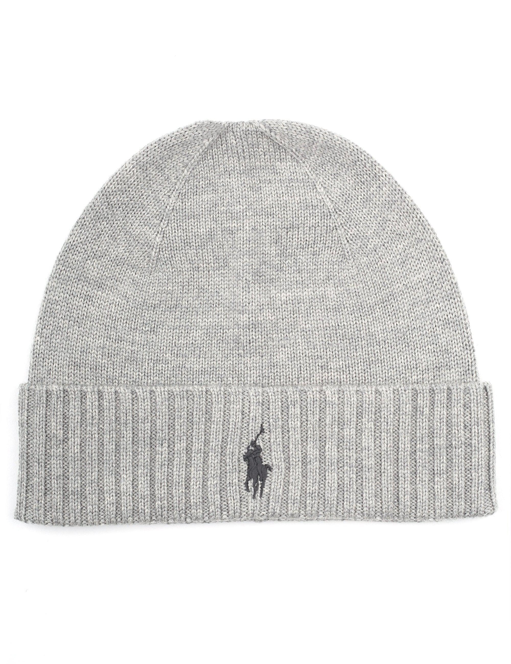 7d604bd867c Polo Ralph Lauren Men s Fo Beanie Hat Grey in Gray for Men - Lyst