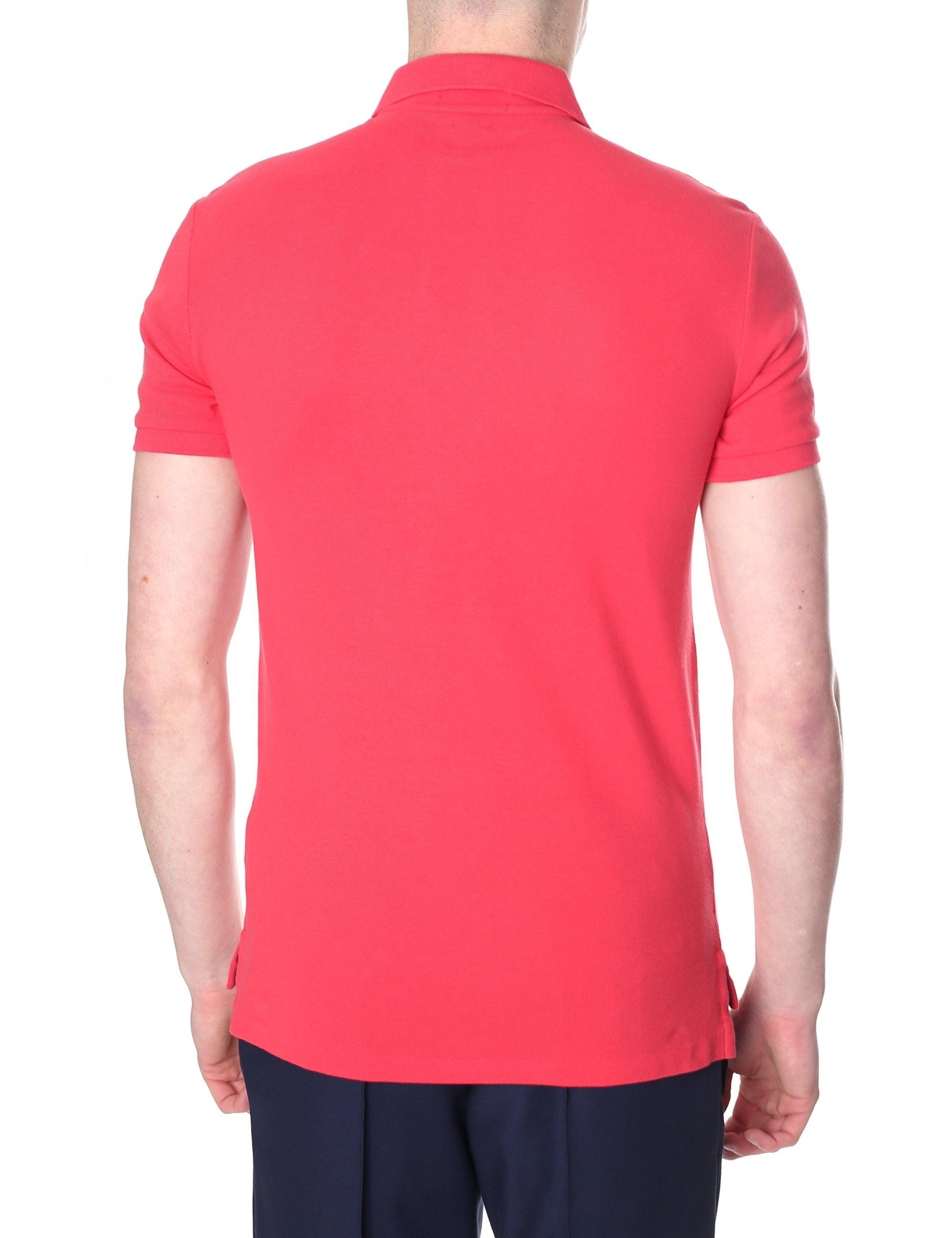 ed84b312dae68 Polo Ralph Lauren Slim Fit Short Sleeve Polo Top in Red for Men - Lyst