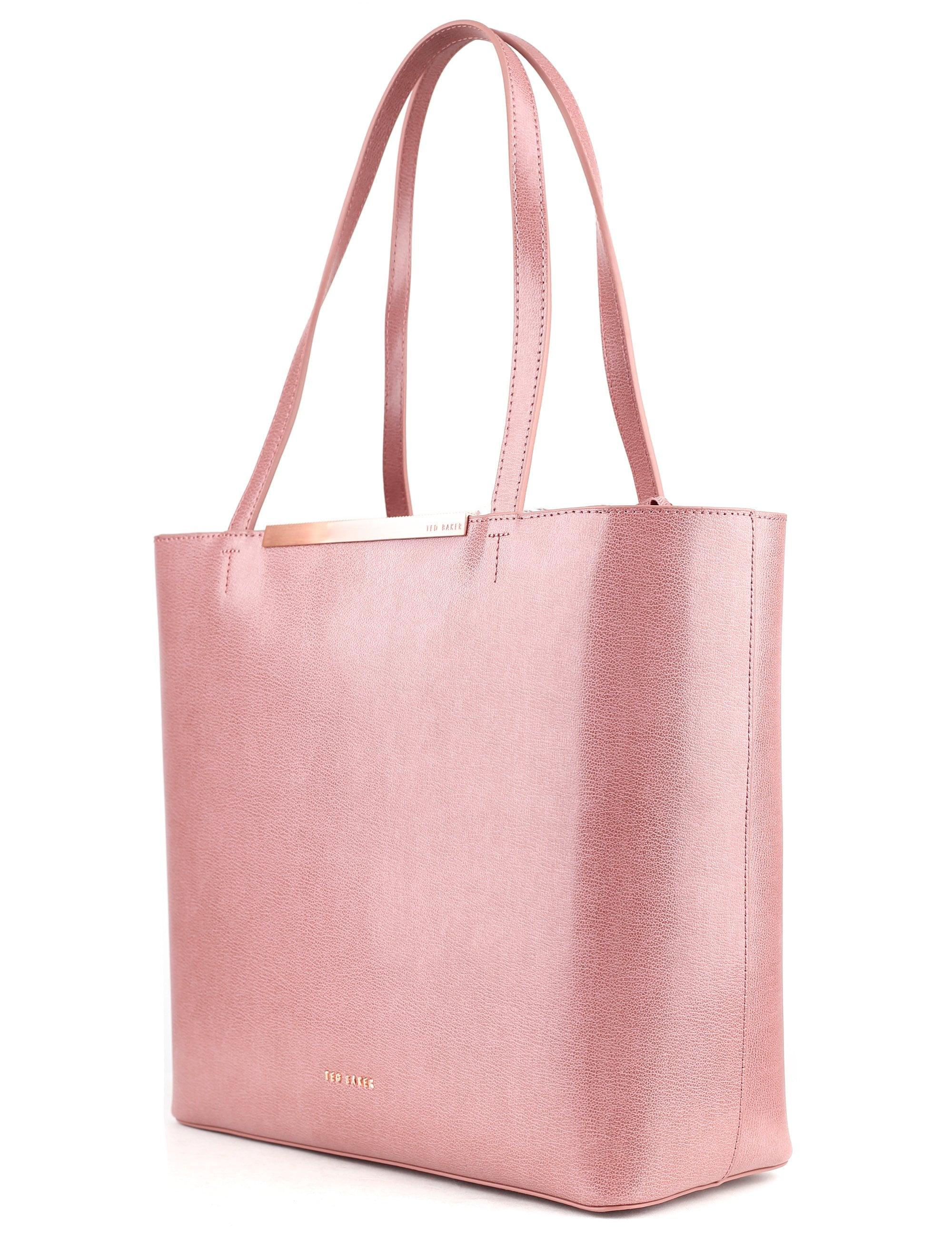 f7a1ddba9 Ted Baker Melisa Core Leather Large Shopper in Pink - Lyst
