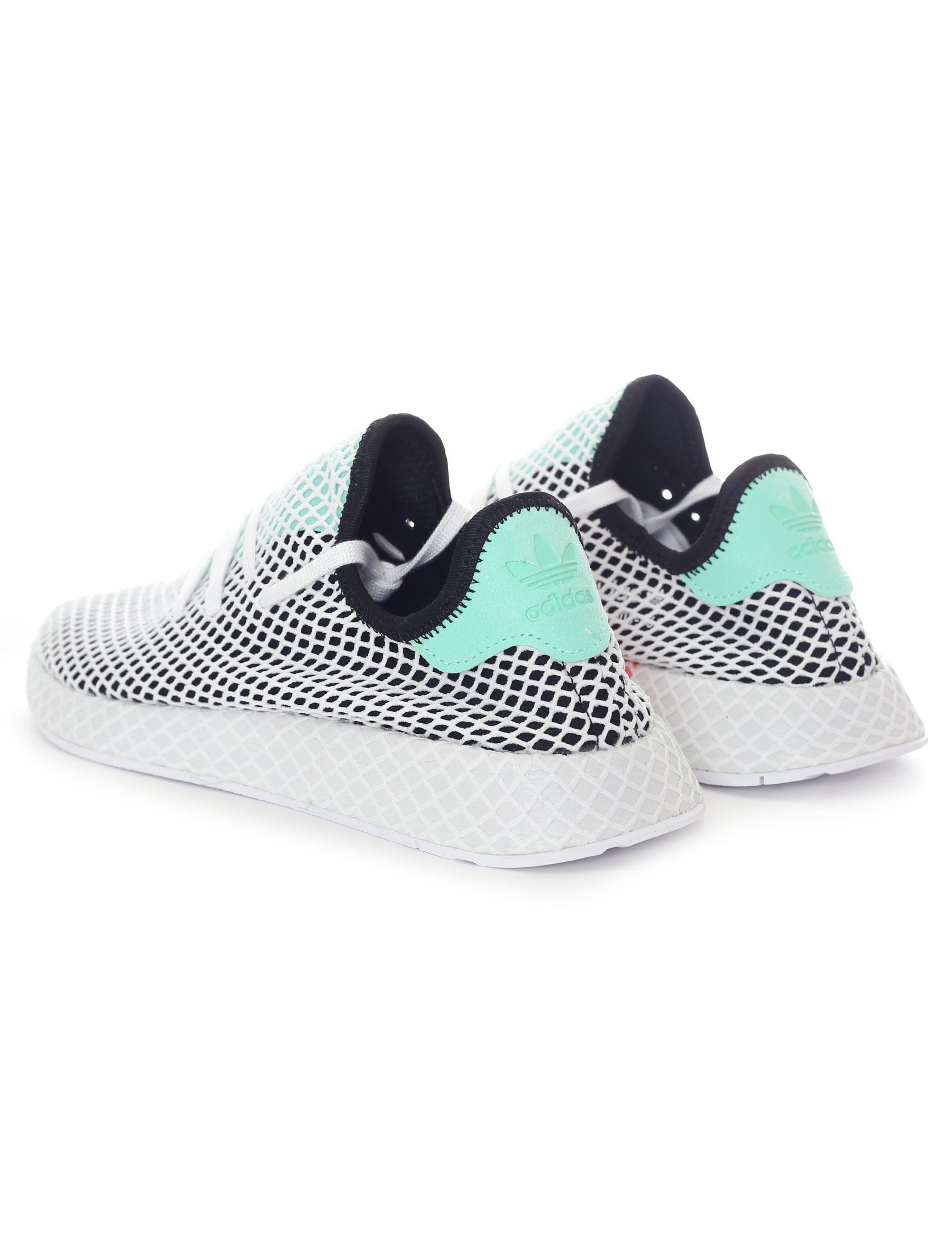 aab7be585 adidas Men s Deerupt Runner Trainer Core Black easy Green footwear ...