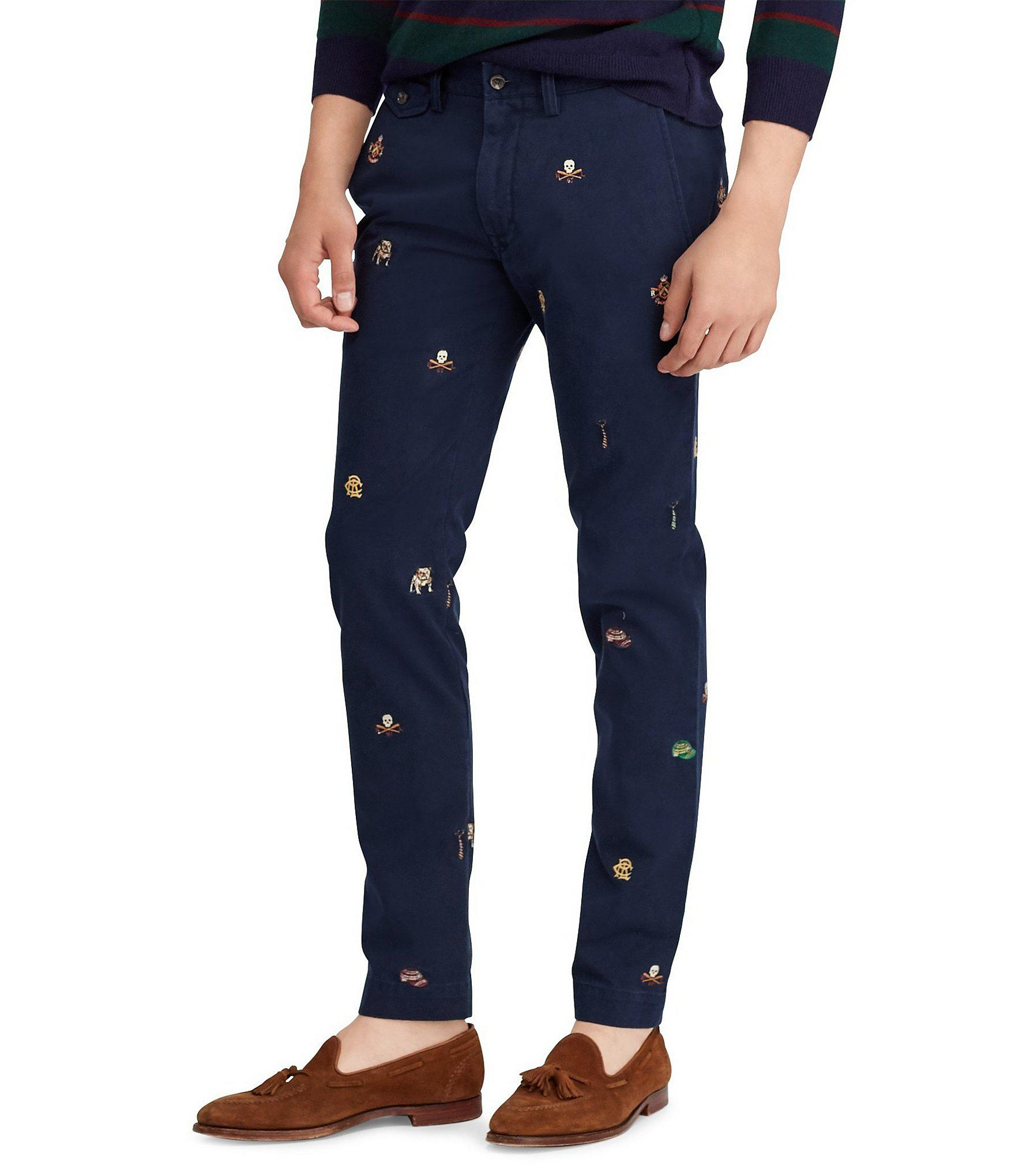 Men Lyst Lauren In Blue Ralph Fit Embroidered Slim Polo For Chino stdhxQrC
