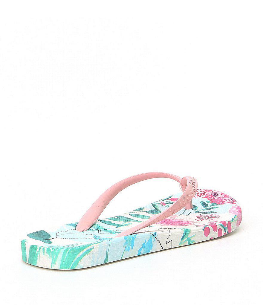 Printed Garden Floral Flip Flop Sandals 5dGfYdtj