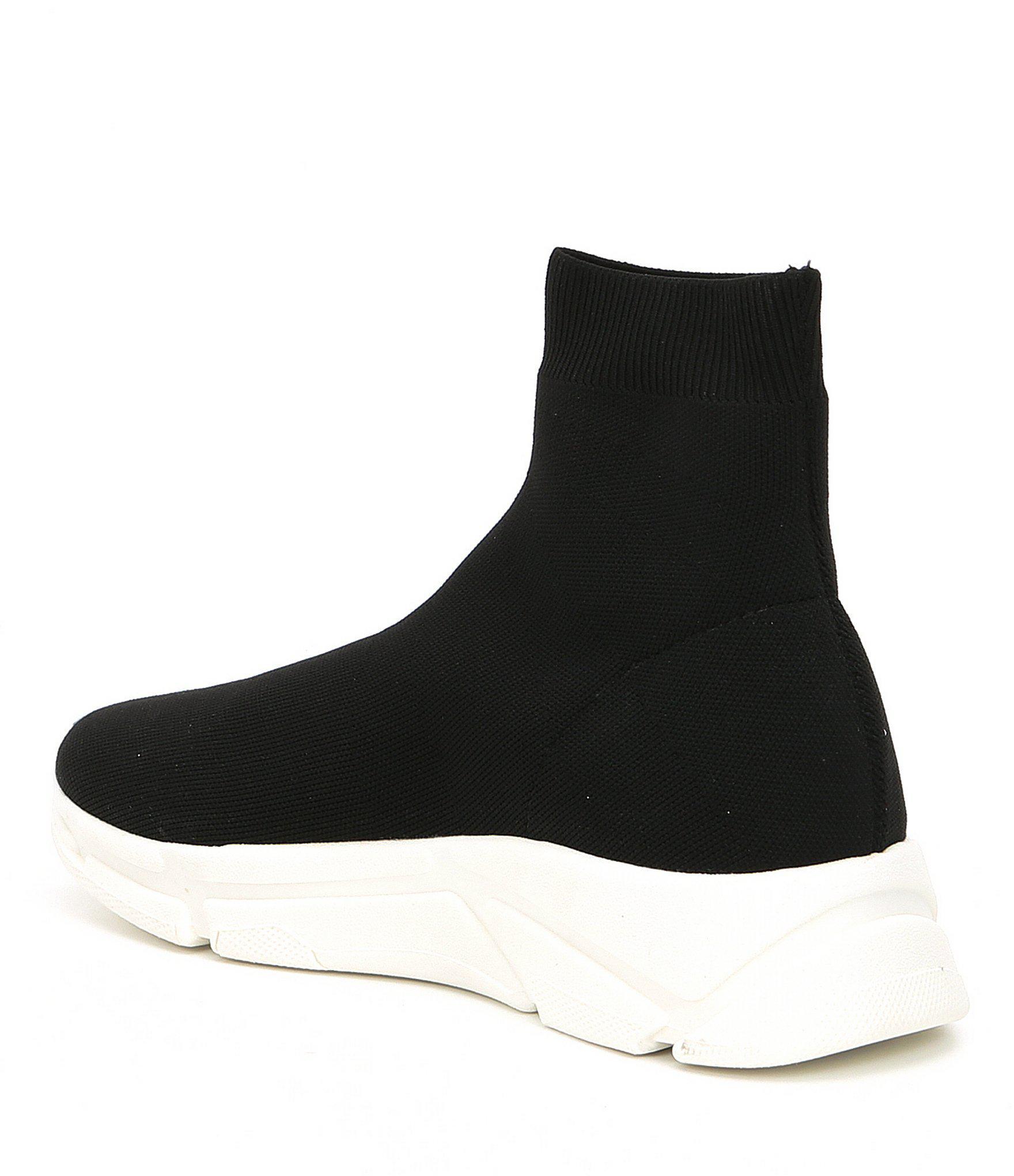 6aeaaf94977 Lyst - Steve Madden Bitten Knit Sneakers in Black