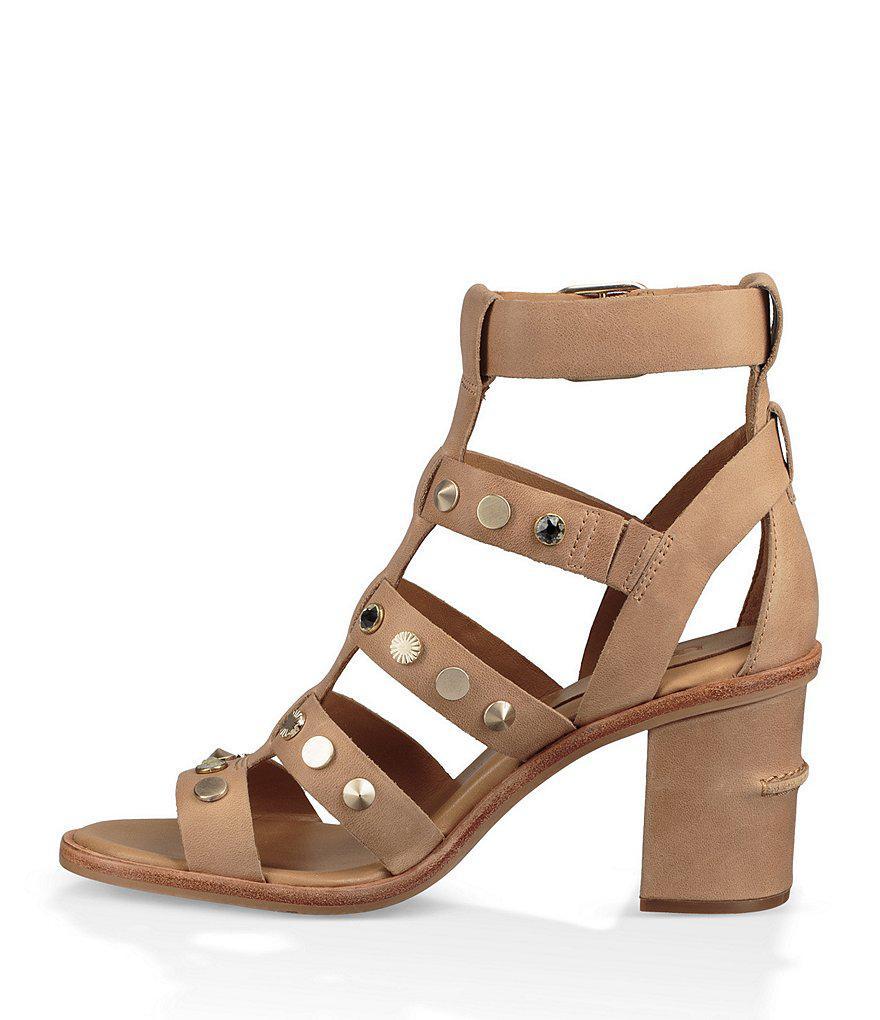 UGG® Macayla Stud Detail Gladiator Block Heel Sandals jWc8p20iC