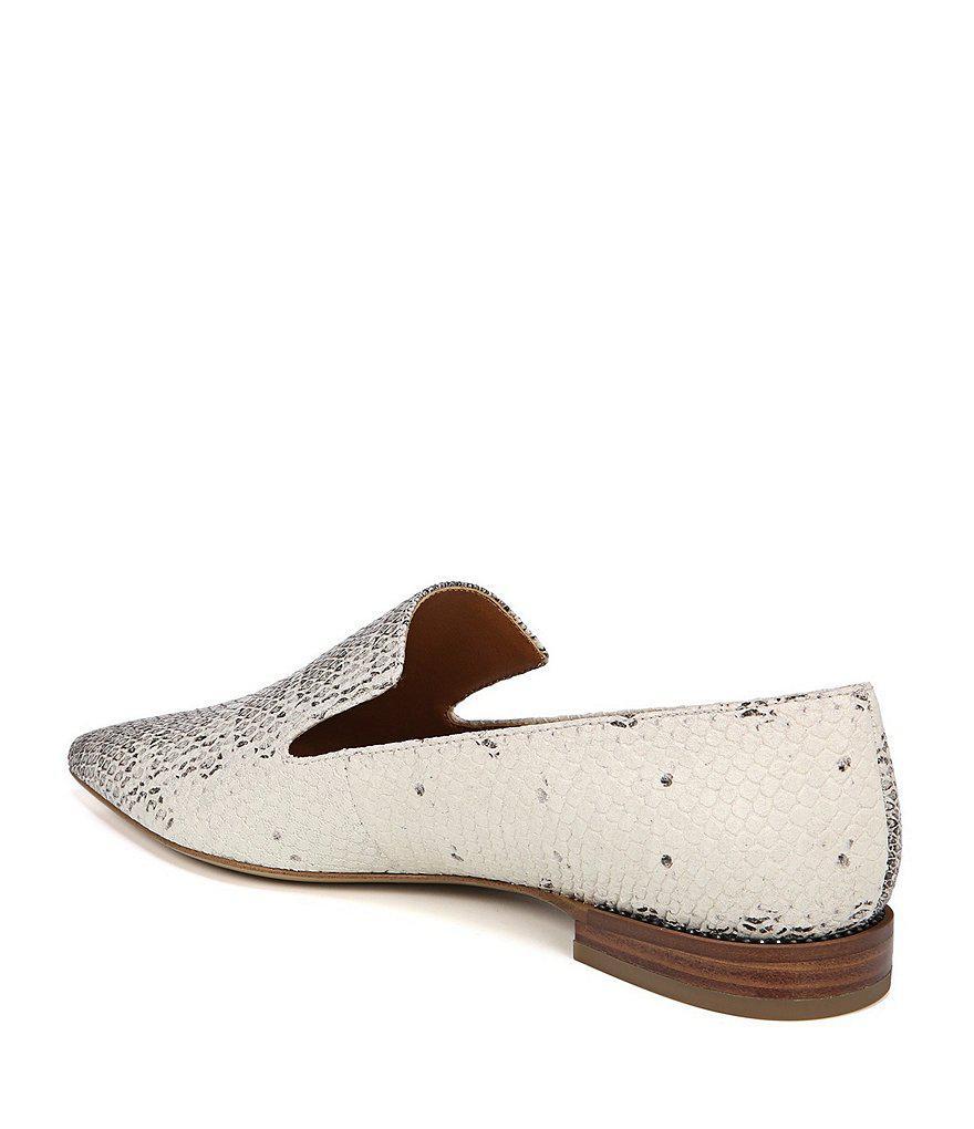 Franco Sarto Sarto by Franco Sarto Snake Print Leather Topaz Loafers b7XH20Px7U