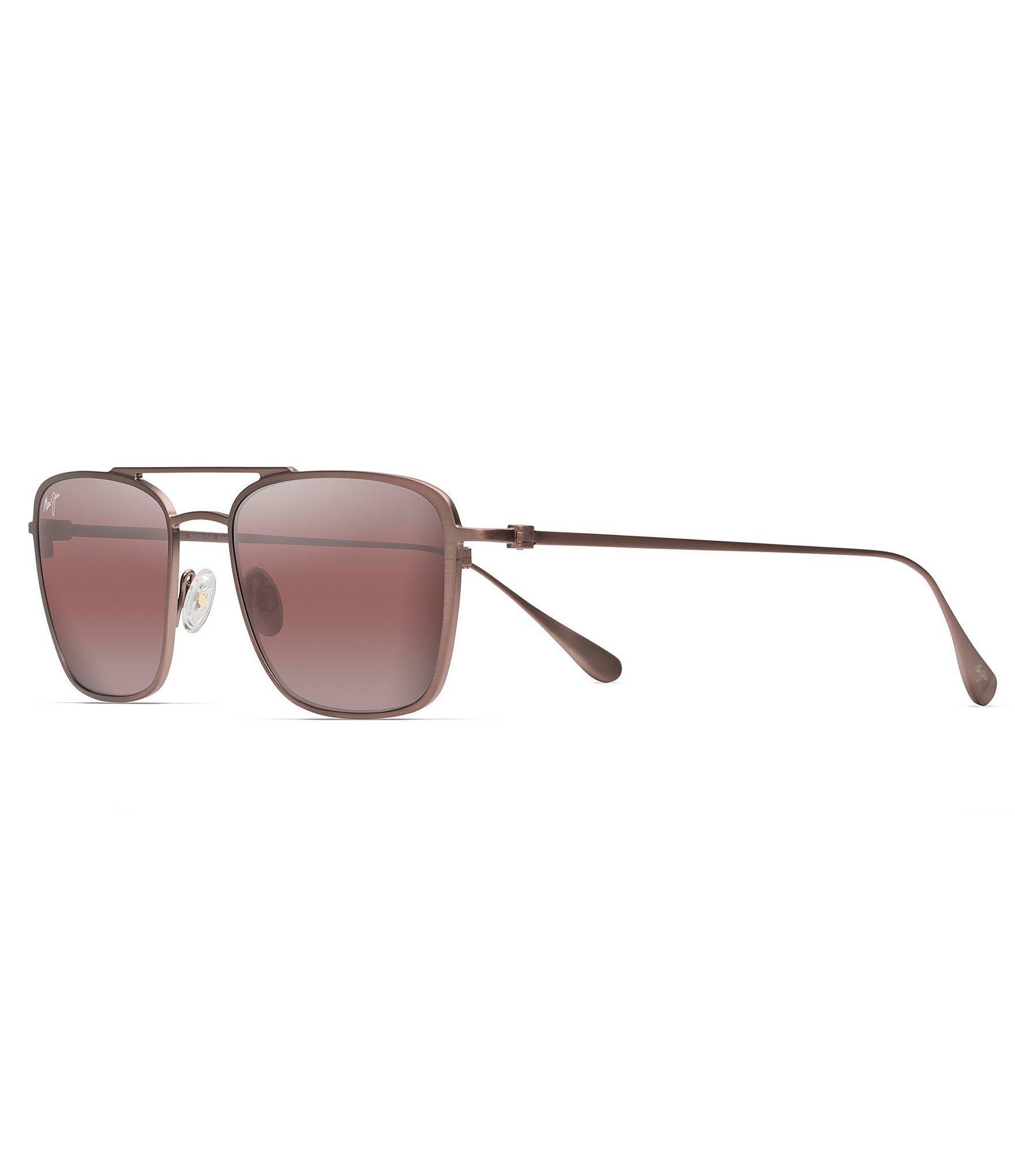450903b5086c Lyst - Maui Jim Ebb & Flow Polarized Aviator Sunglasses in Brown for Men