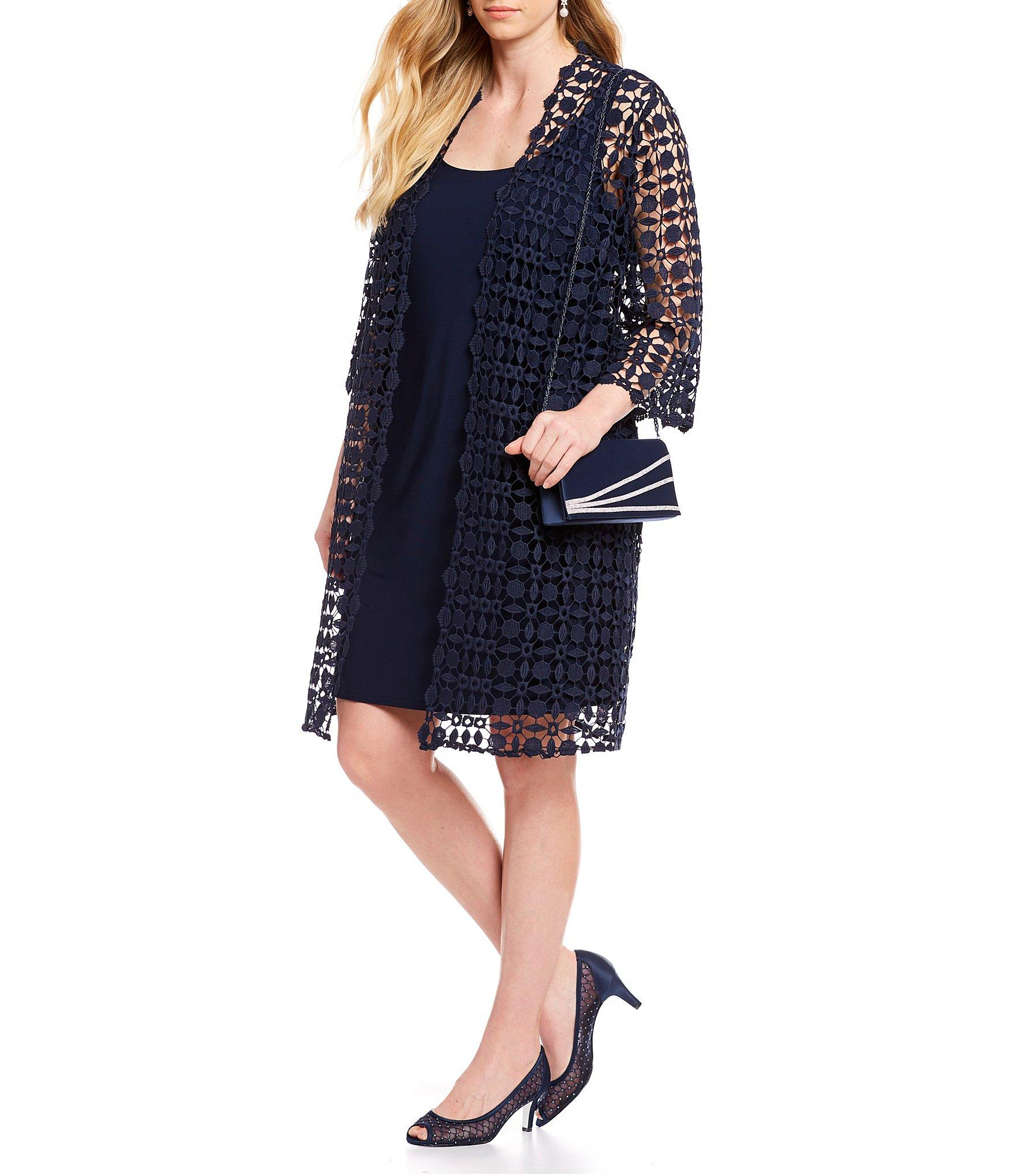 9e013d6a484 Lyst - Alex Evenings Plus Size Embroidered Jacket Dress in Blue