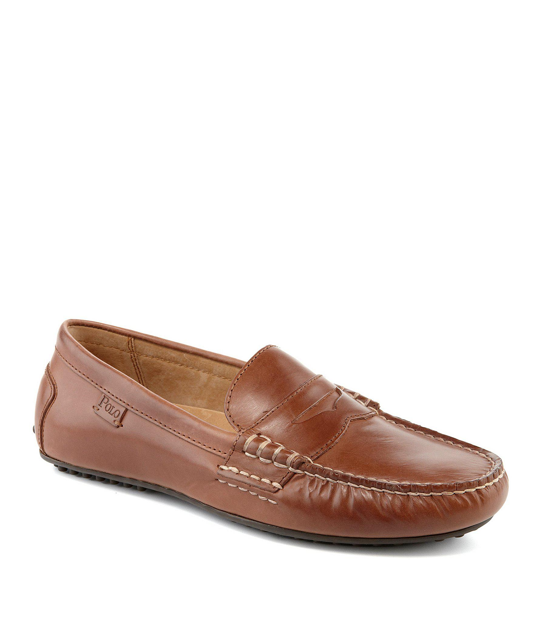 7639206cf84 Lyst - Polo Ralph Lauren Wes Penny Loafers in Brown for Men