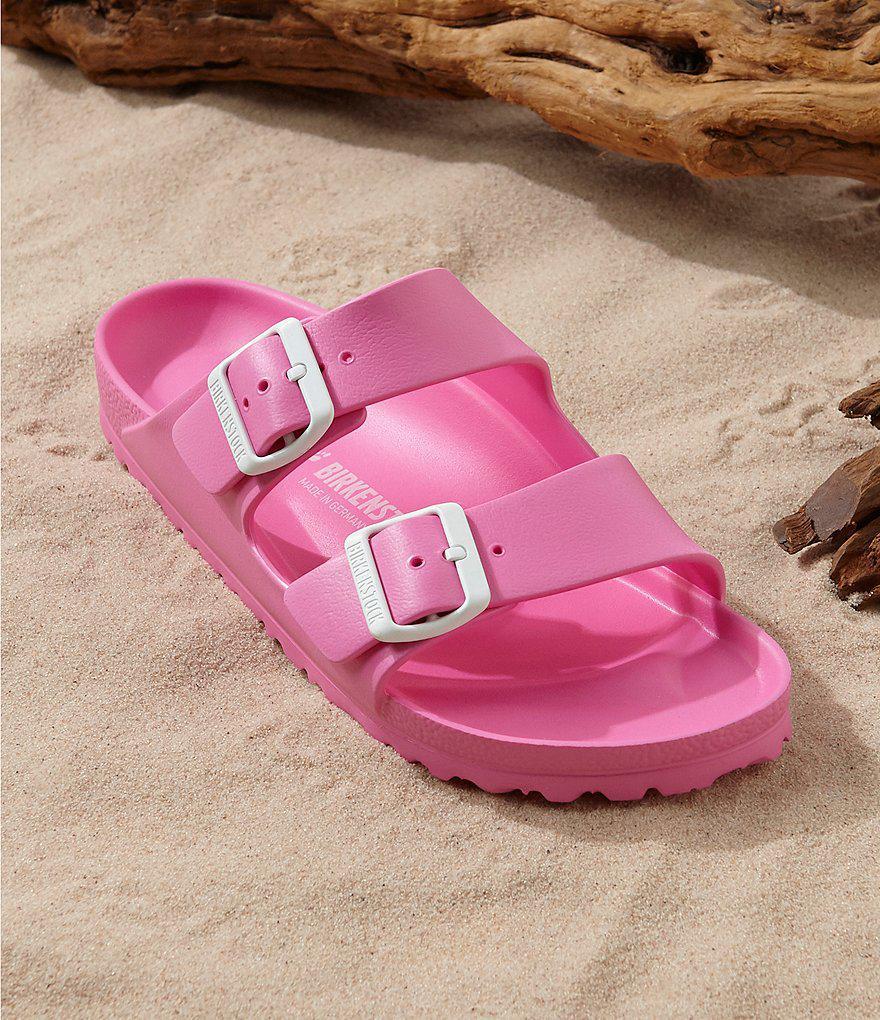 63f40e00524048 Birkenstock Arizona Eva Waterproof Essentials Slide Sandals in Pink ...