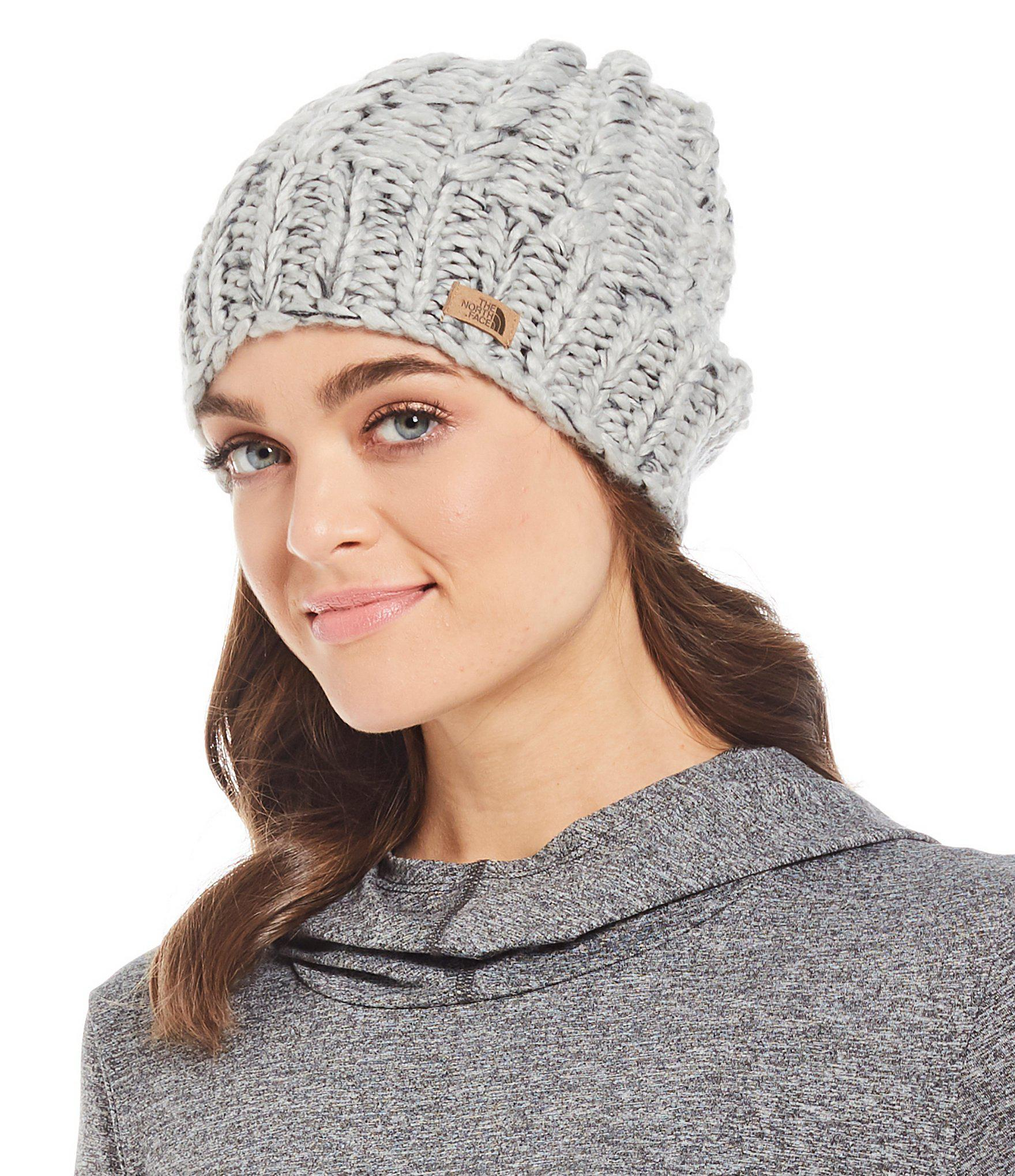 5d3f30c6 The North Face Ladies' Chunky Knit Beanie in Gray - Lyst
