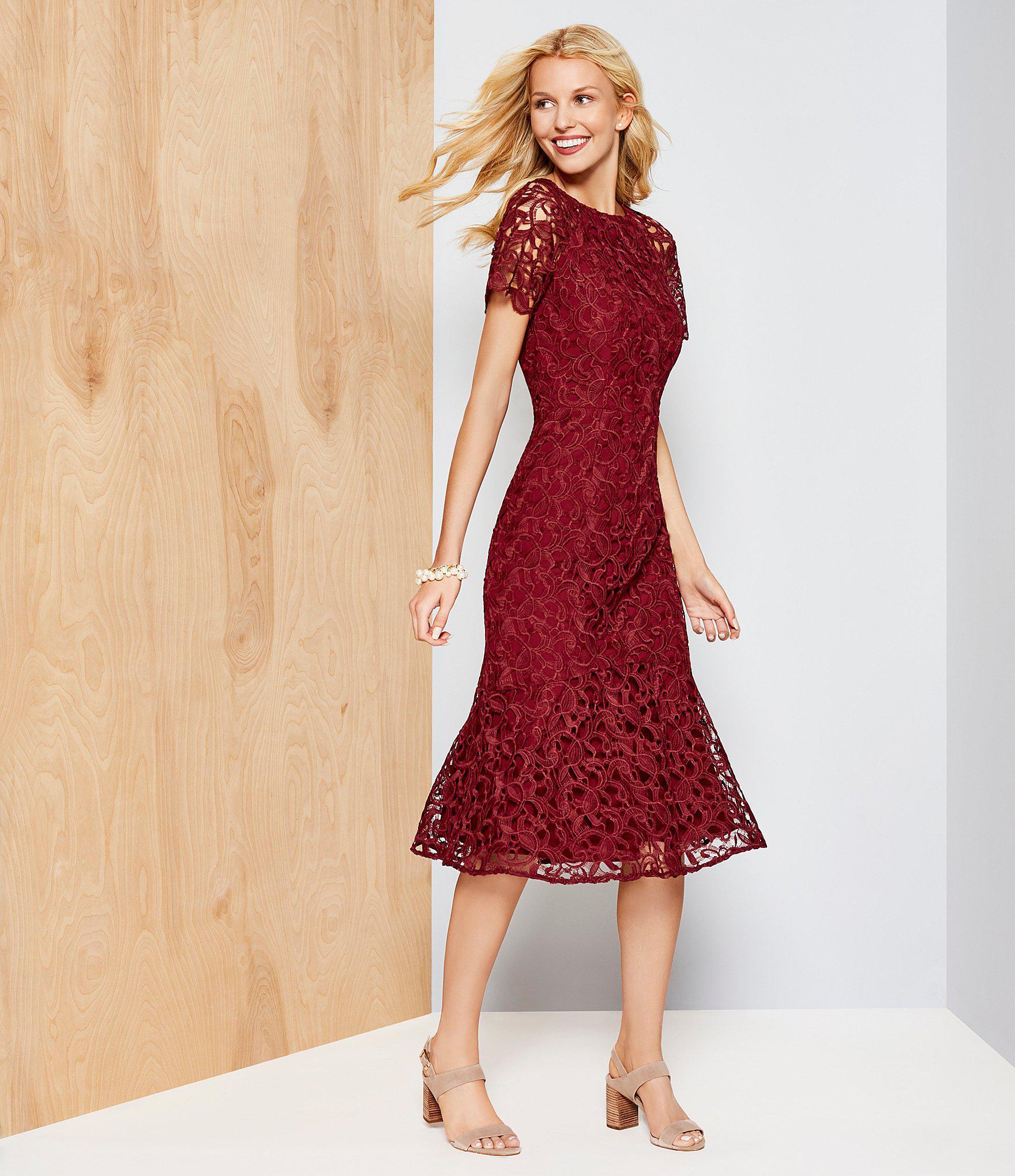 0ac3540faa3 Antonio Melani Penny Lace Midi Dress in Red - Lyst