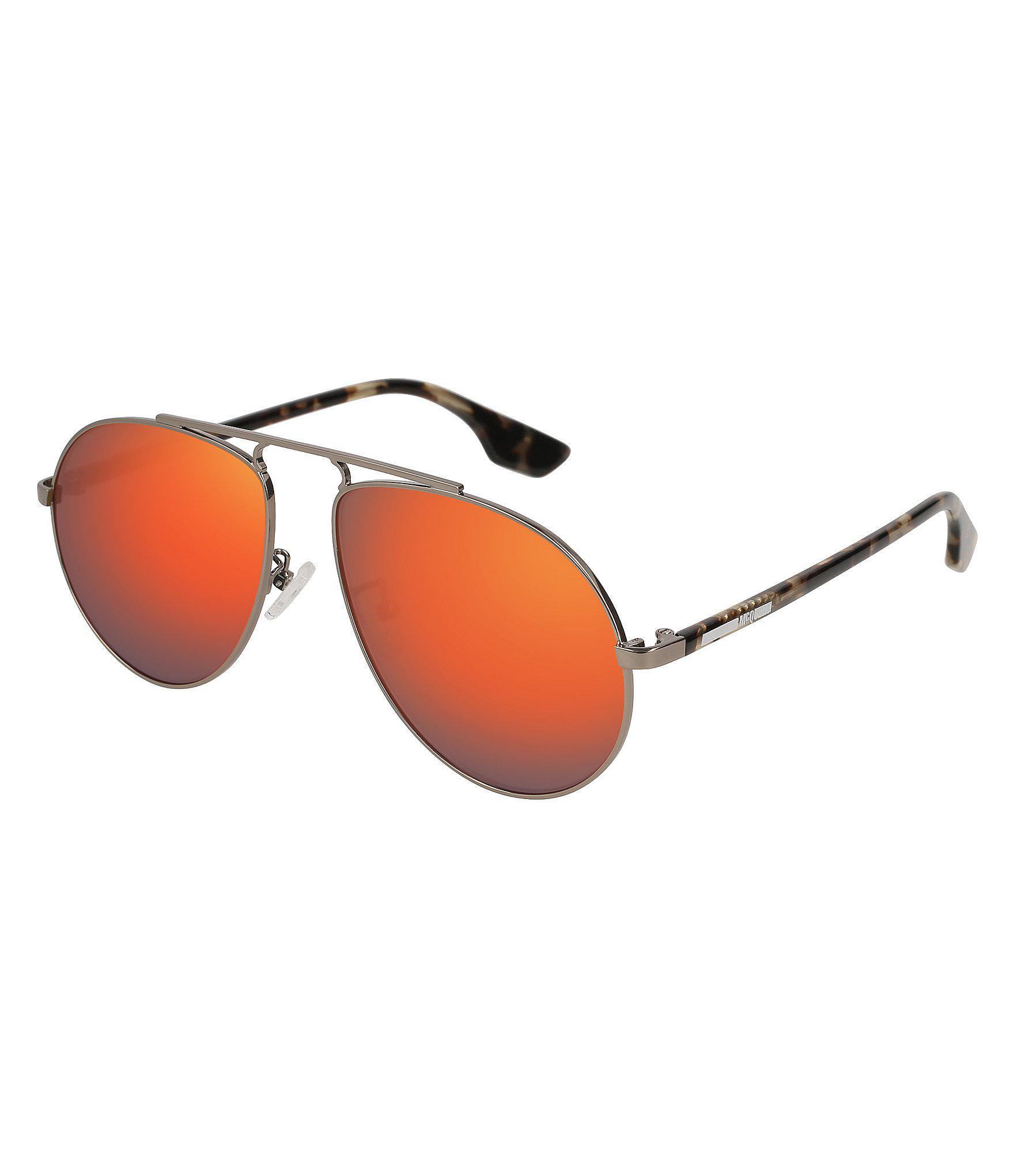 cfda6c67769e Lyst - Alexander McQueen Mcq By Unisex Aviator Sunglasses in Red for Men