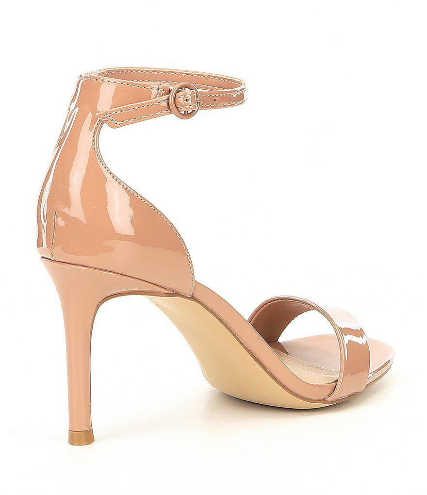 82d62f7a76c Lyst - Steve Madden Fame Patent Ankle Strap Dress Pumps