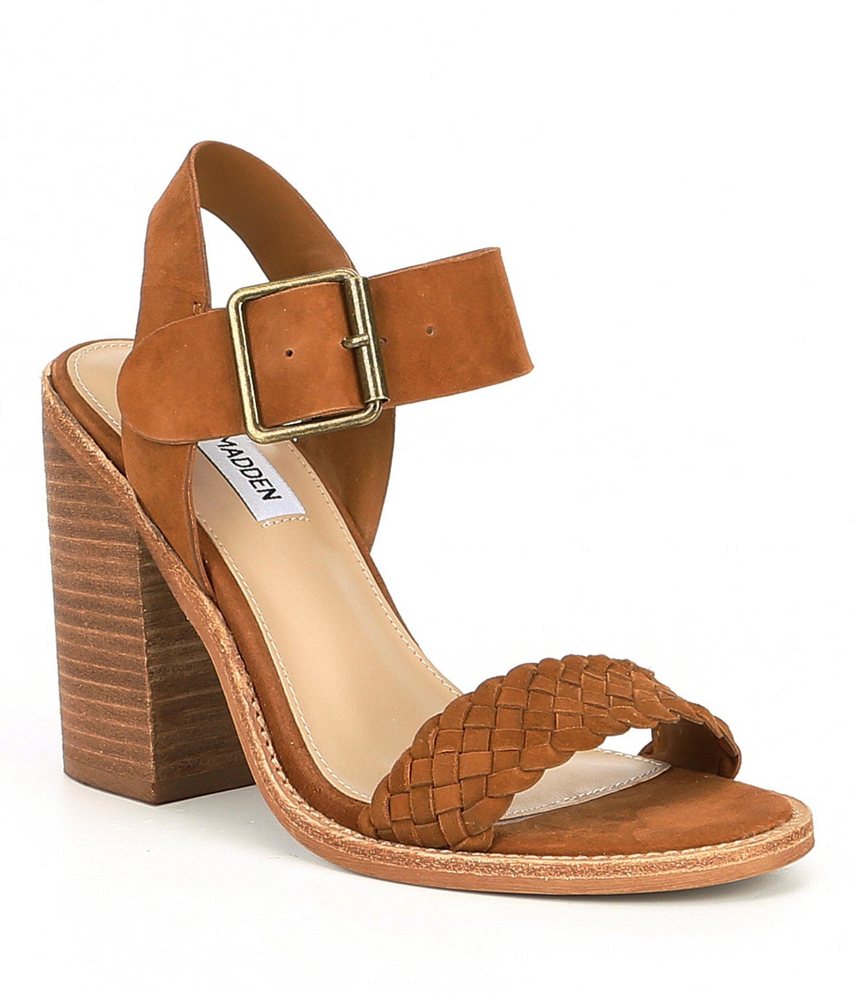 a4ad4390ba8 Lyst - Steve Madden Cadence Suede Block-heel Sandals in Brown