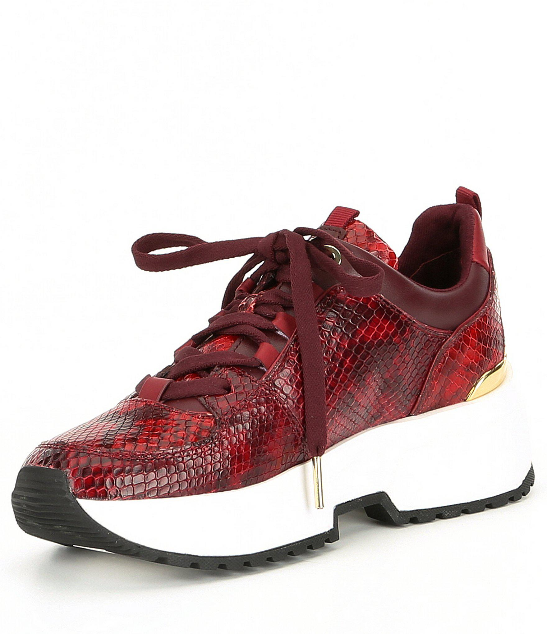 94382a3f0be7 Lyst - MICHAEL Michael Kors Cosmo Trainer Snake Printed Leather ...