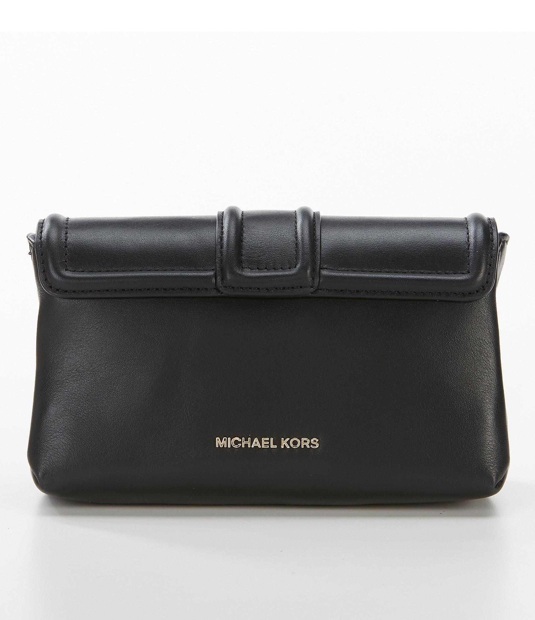 fc4a252613b0 MICHAEL Michael Kors - Black Padlock Chain Cross-body Bag - Lyst. View  fullscreen
