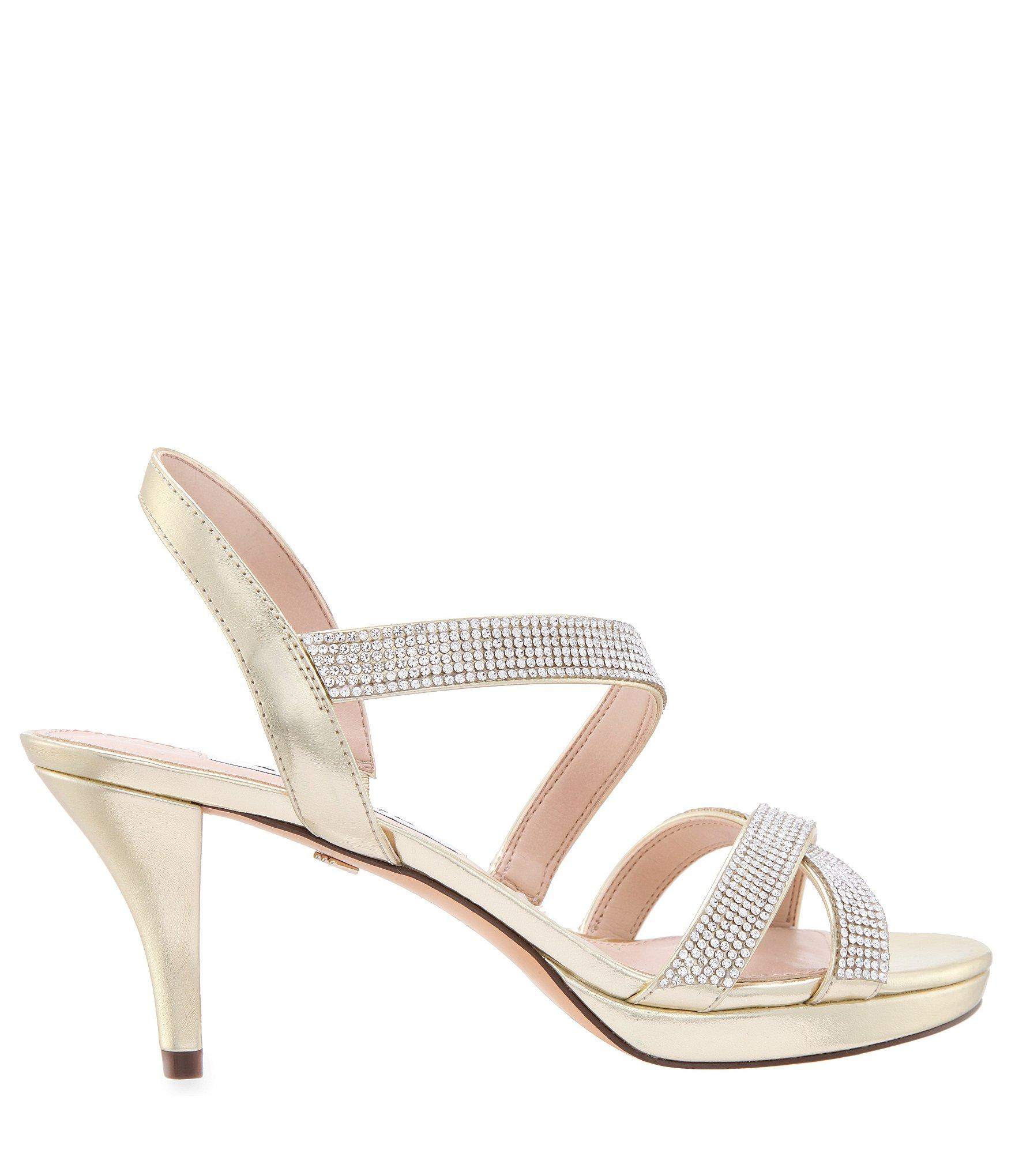 acdb7da05 Nina - Multicolor Nizana Jeweled Strappy Metallic Dress Sandals - Lyst.  View fullscreen