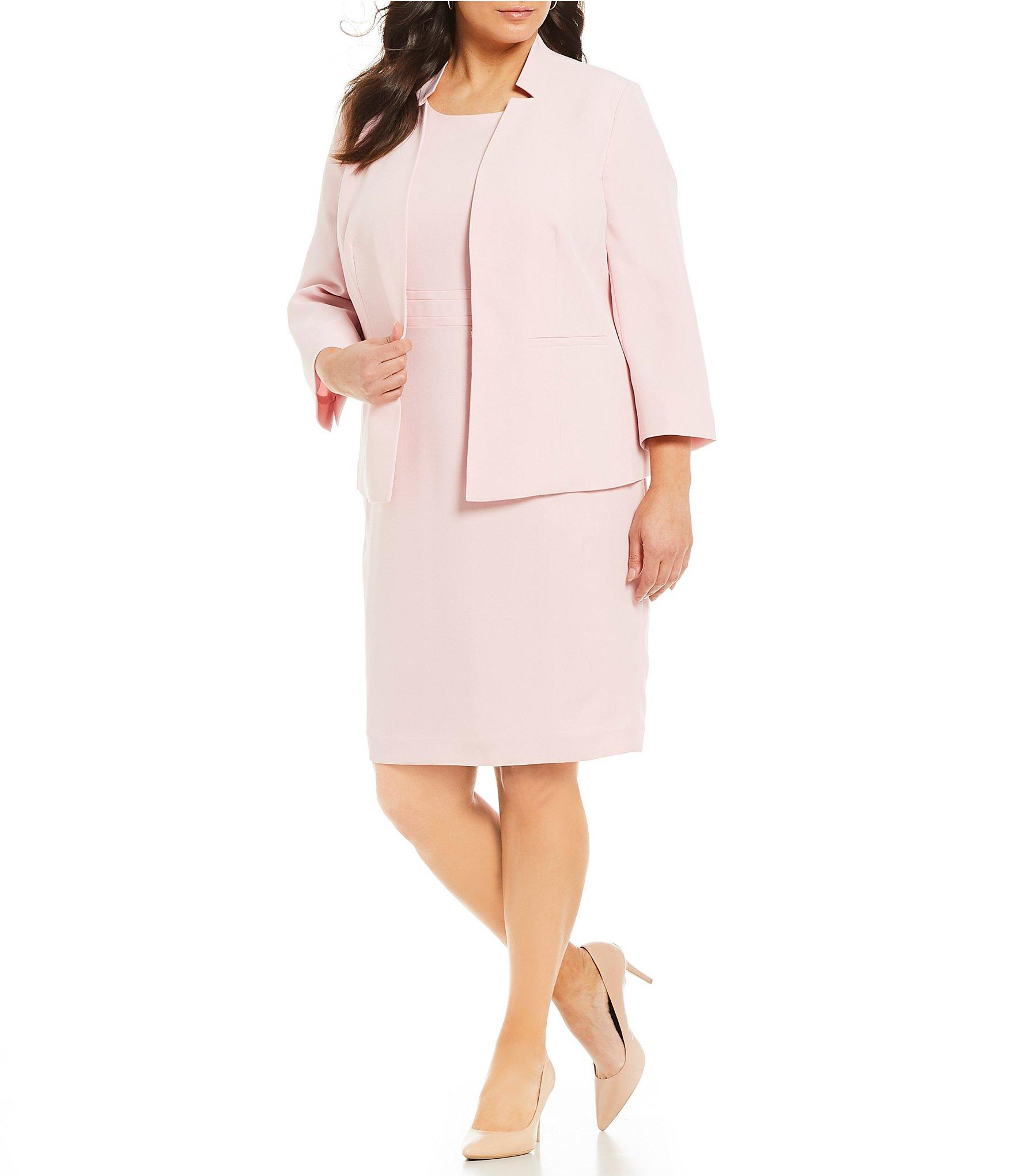 9f500ff297c Kasper - Pink Plus Size Stand Collar Flyaway Jacket - Lyst. View fullscreen